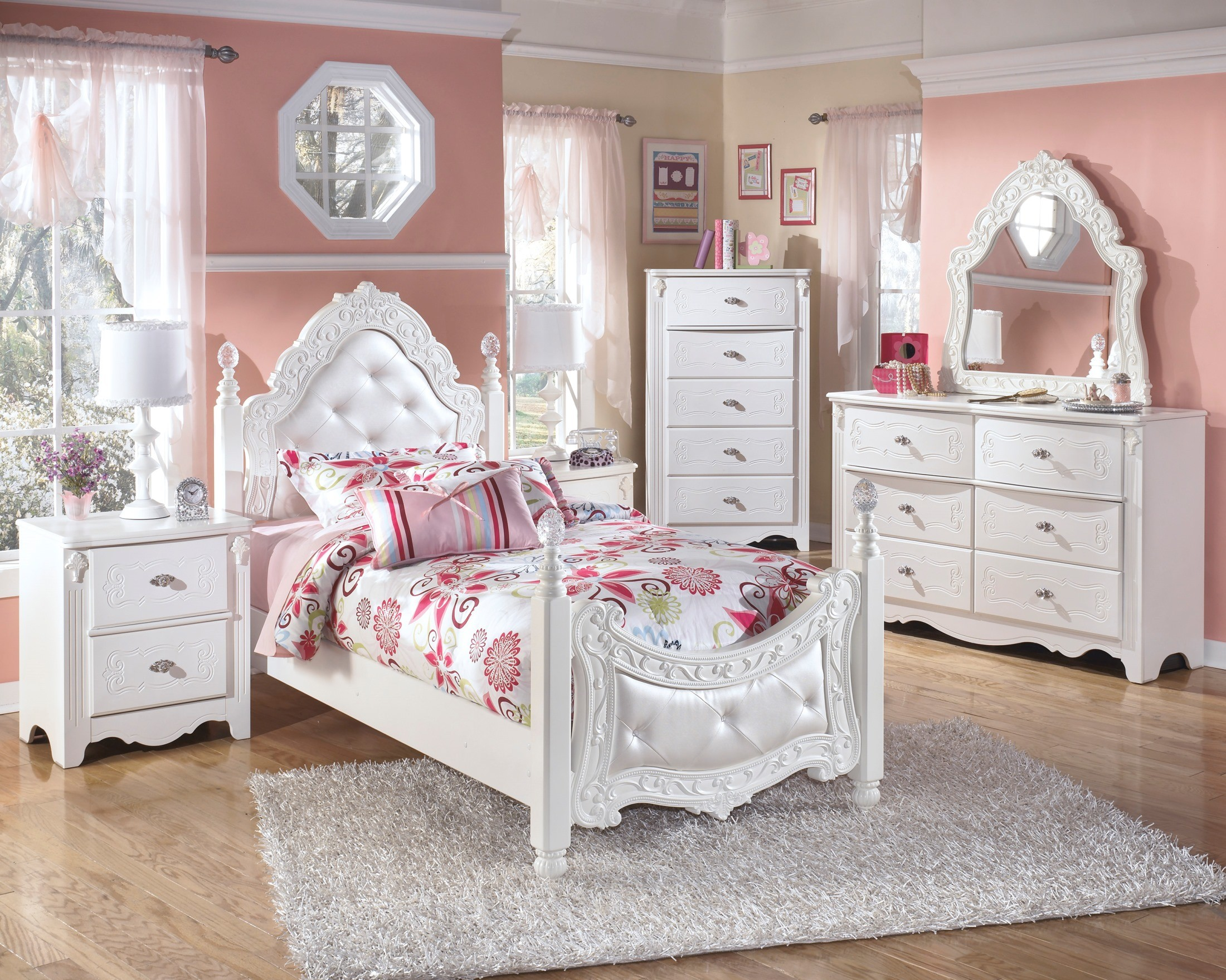 Ashley white bedroom furniture - 2301512exquisite Poster Bedroom Set From Ashley Asl B188 71 82n