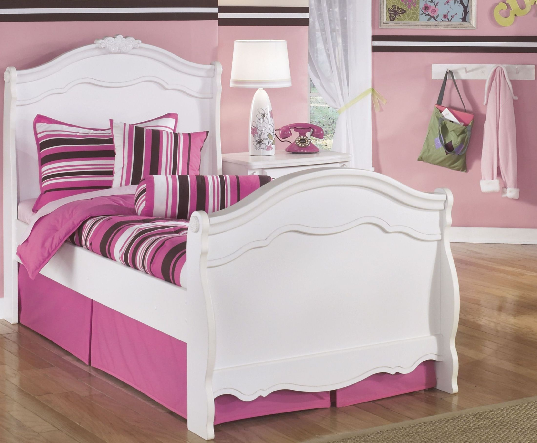 Exquisite Youth Sleigh Bedroom Set From Ashley B188 62n 63n 82n Coleman Furniture