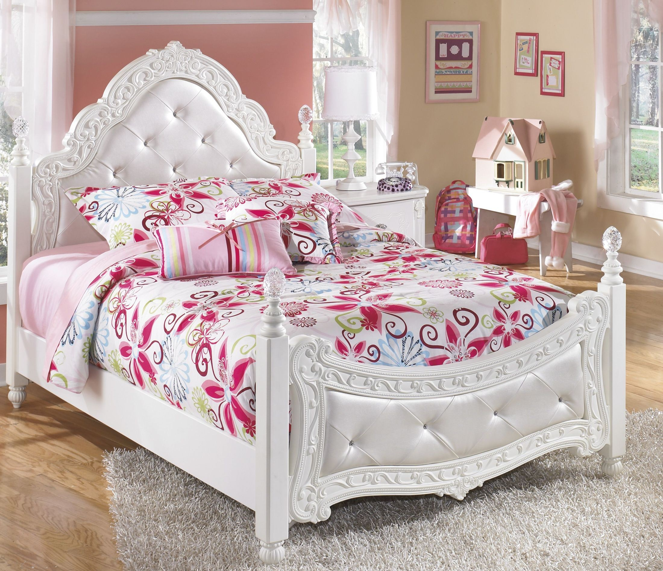 Bedroom sets coleman furniture - Exquisite Poster Underbed Storage Bedroom Set