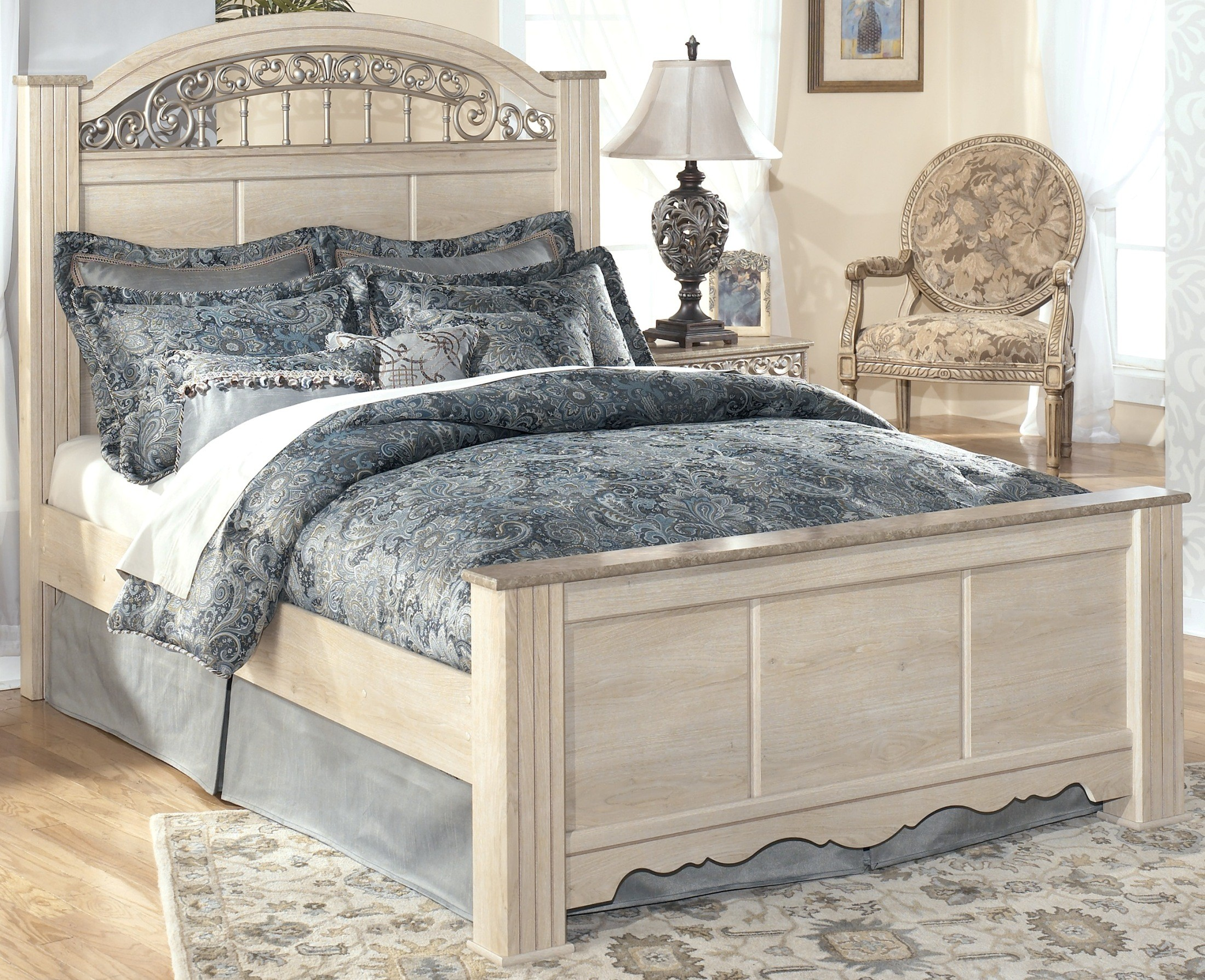 Catalina King Poster Bed from Ashley (B196-68-66-99) | Coleman ...