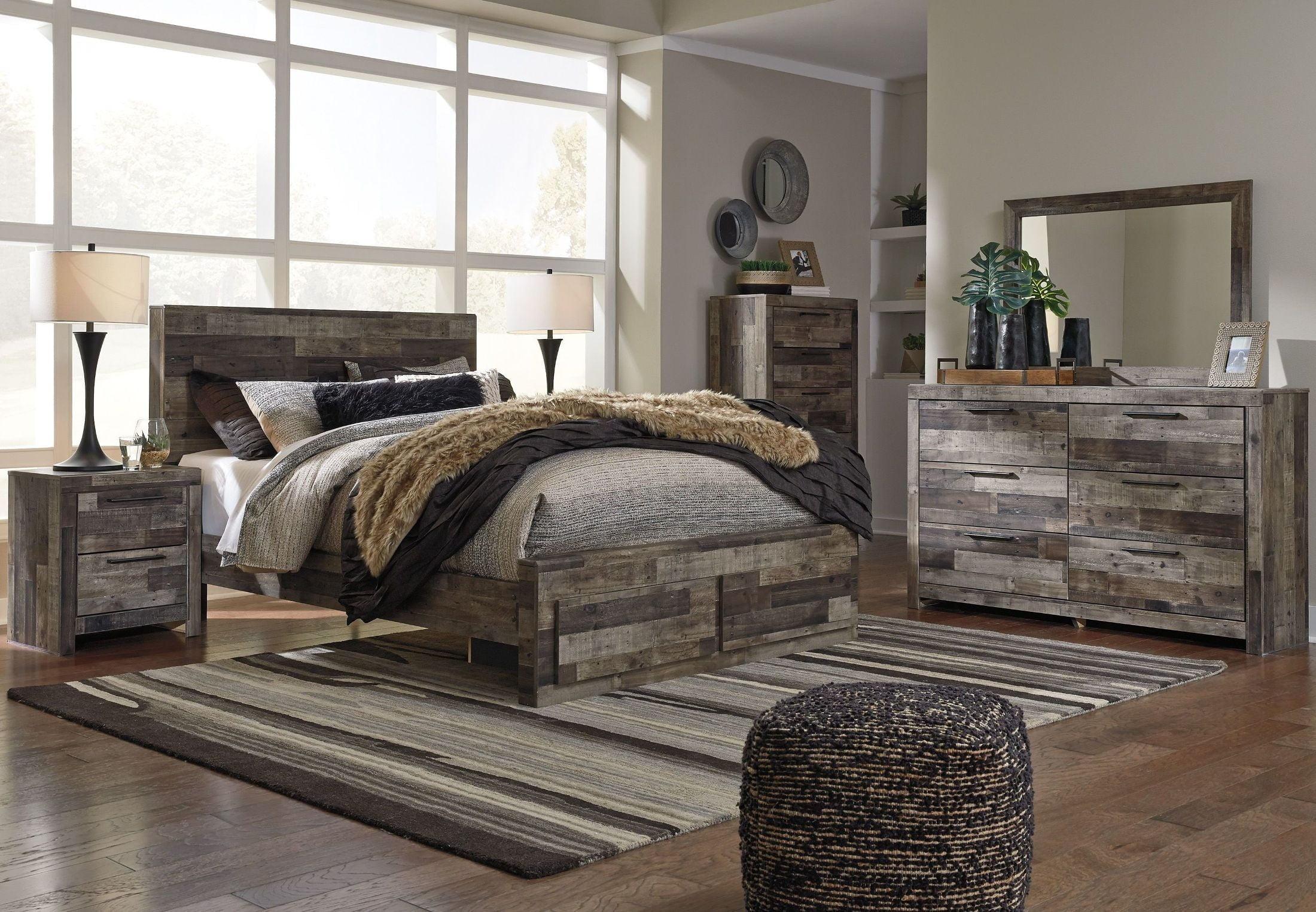 Derekson Gray Storage Panel Bedroom Set