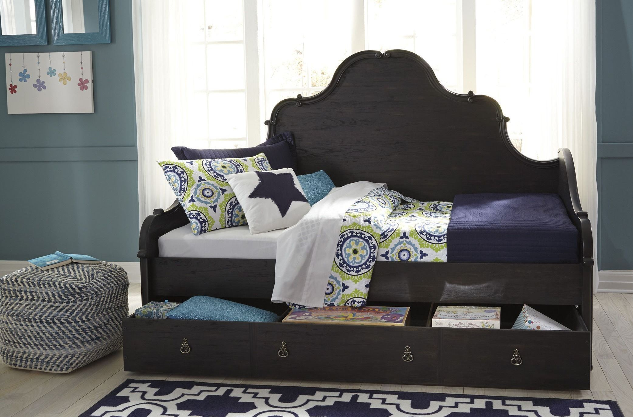 Corilyn Dark Brown Daybed With Trundle Storage From Ashley Coleman Furniture