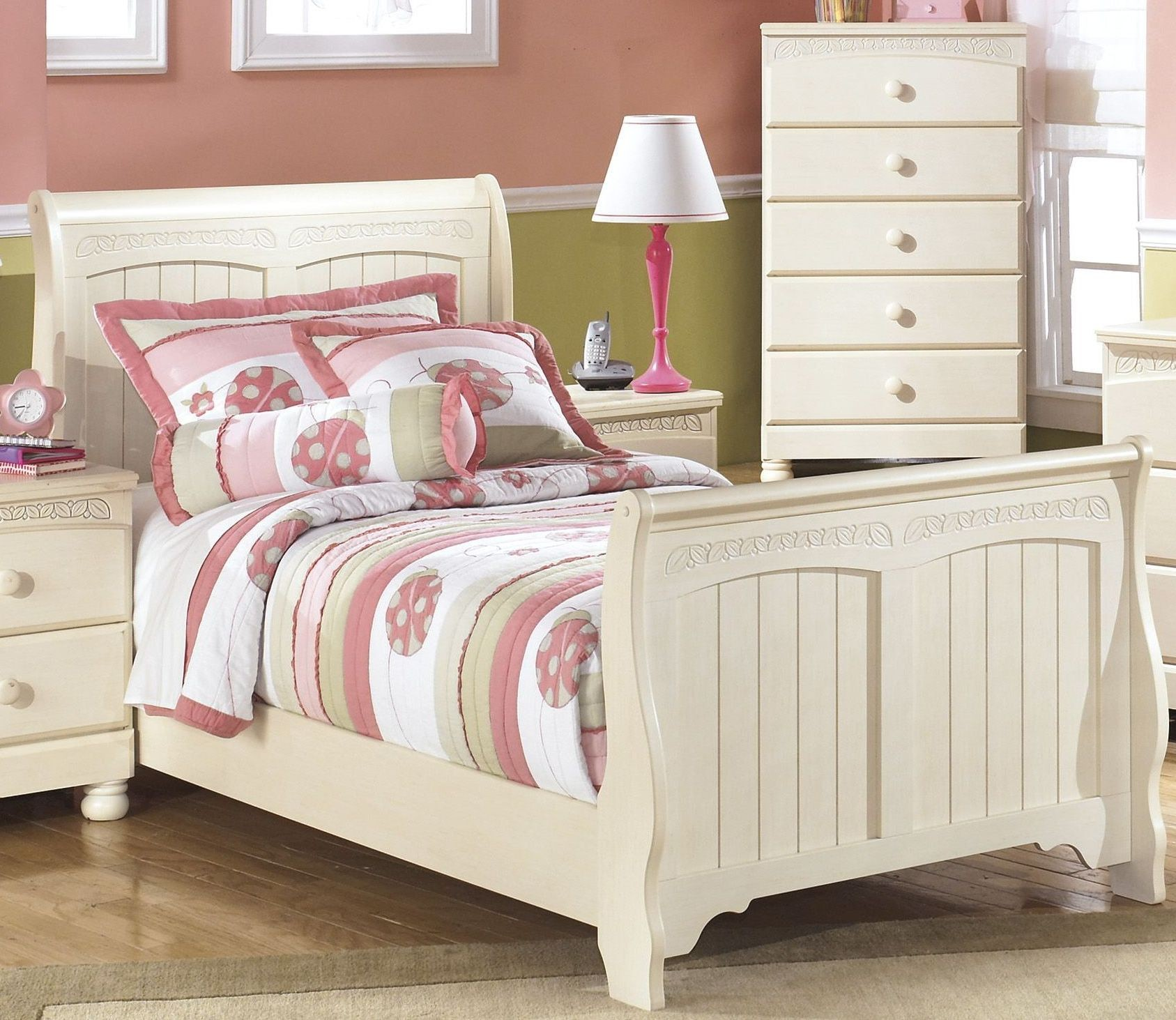 Cottage Retreat Youth Sleigh Bedroom Set From Ashley B213 62 63 82 Coleman Furniture