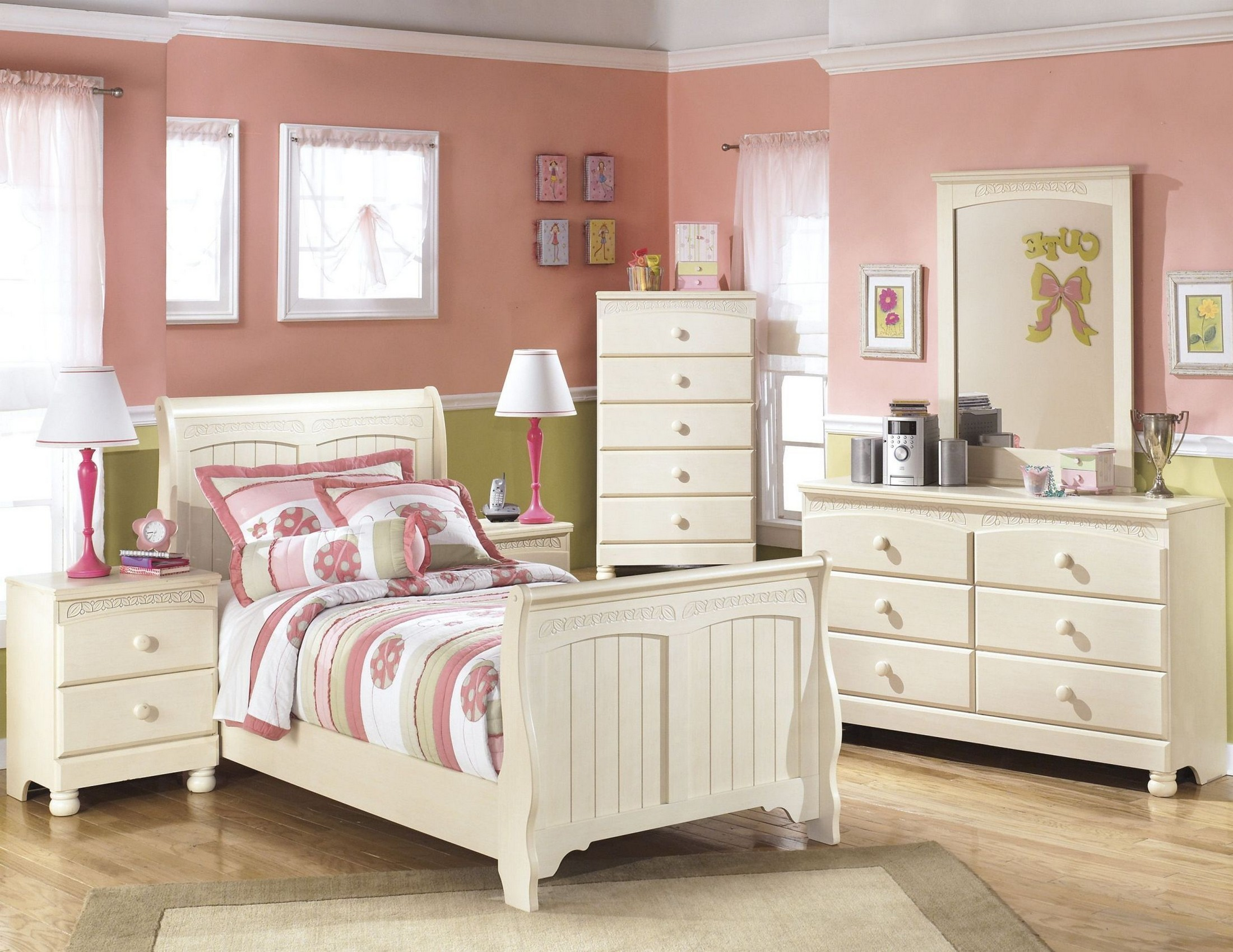 Cottage retreat youth sleigh bedroom set from ashley b213 - Cottage retreat bedroom furniture ...