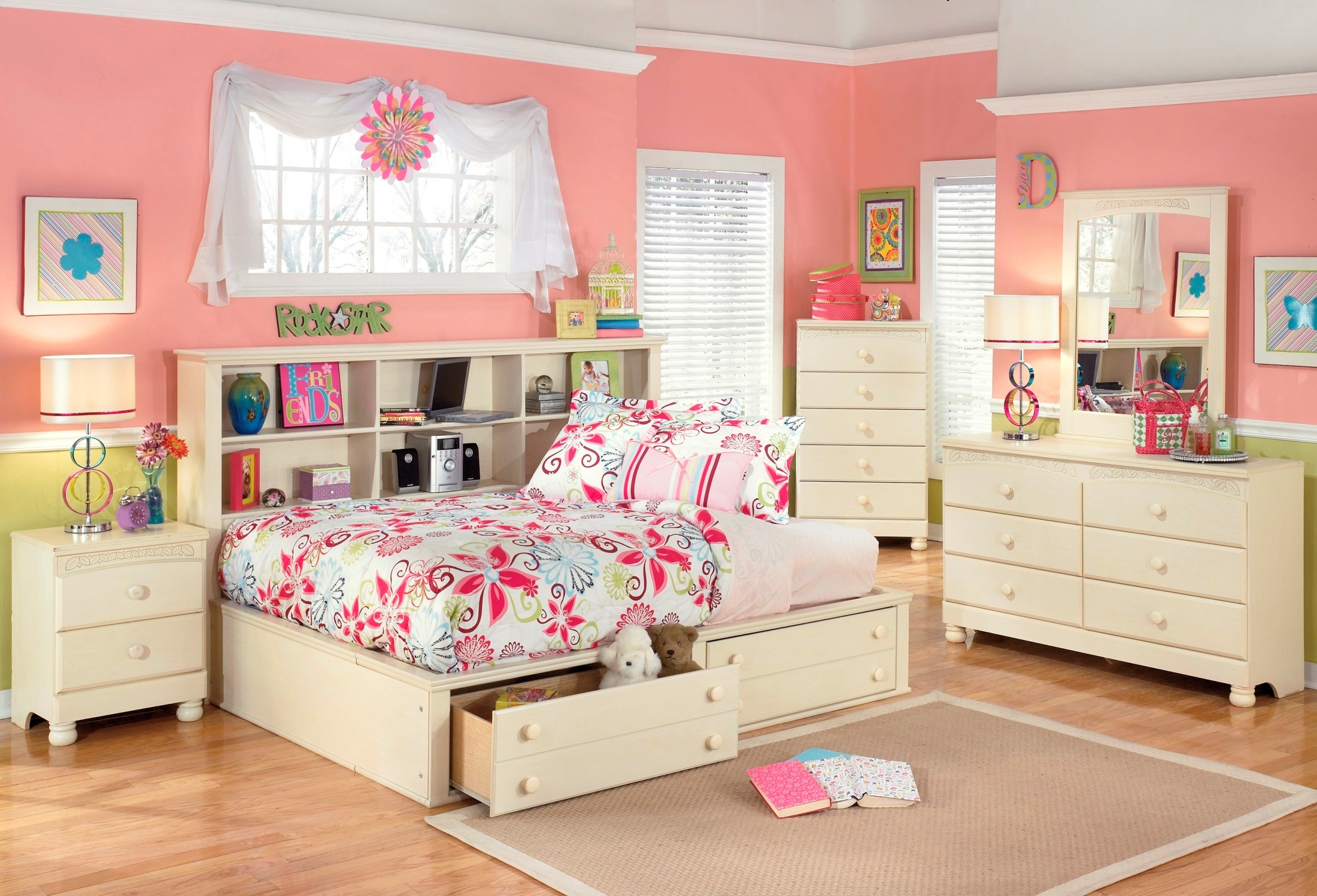 Cottage retreat youth bedside storage bedroom set from ashley b213 05 85 90 coleman furniture Cottage retreat collection bedroom furniture