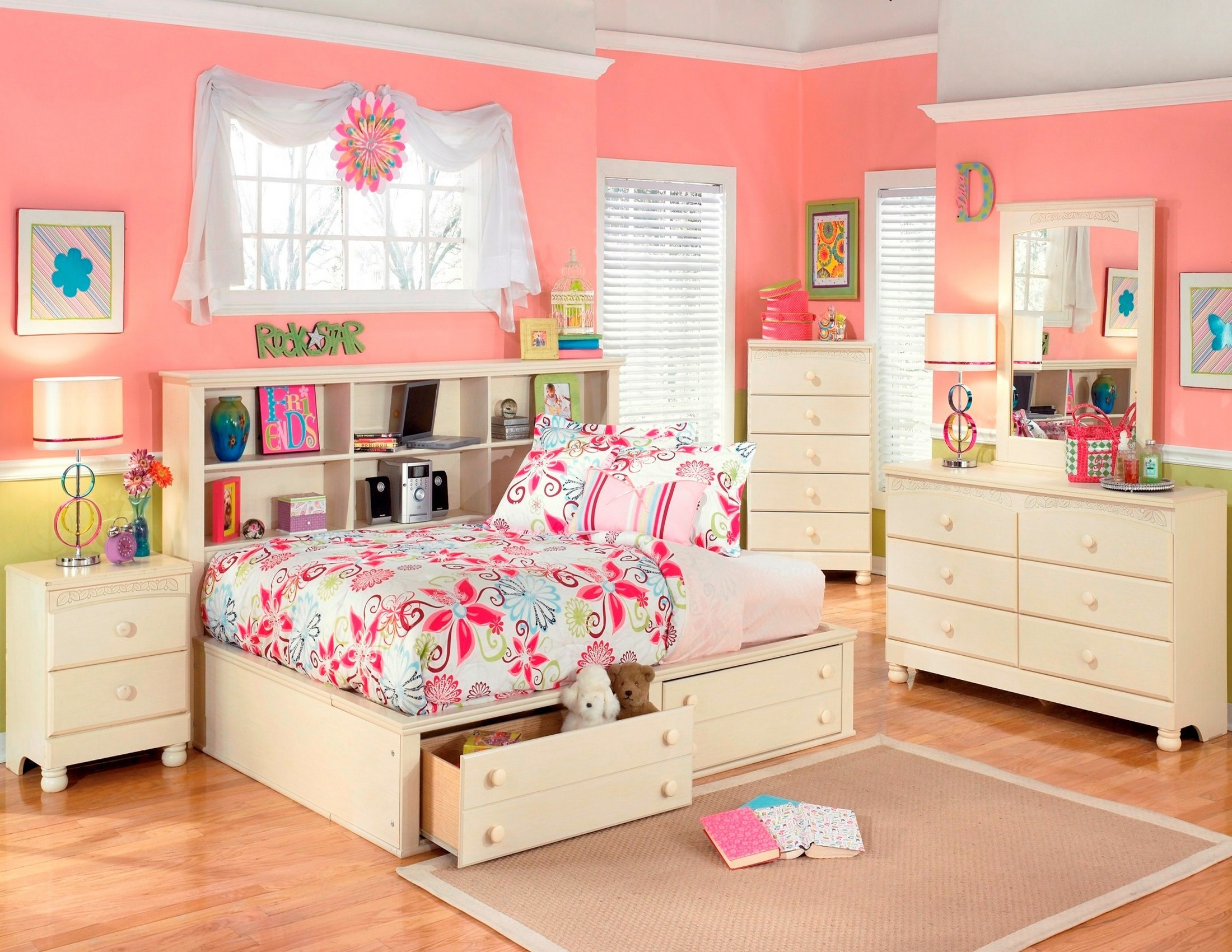 Cottage Retreat Youth Bedside Storage Bedroom Set From Ashley B213 05 85 90 Coleman Furniture