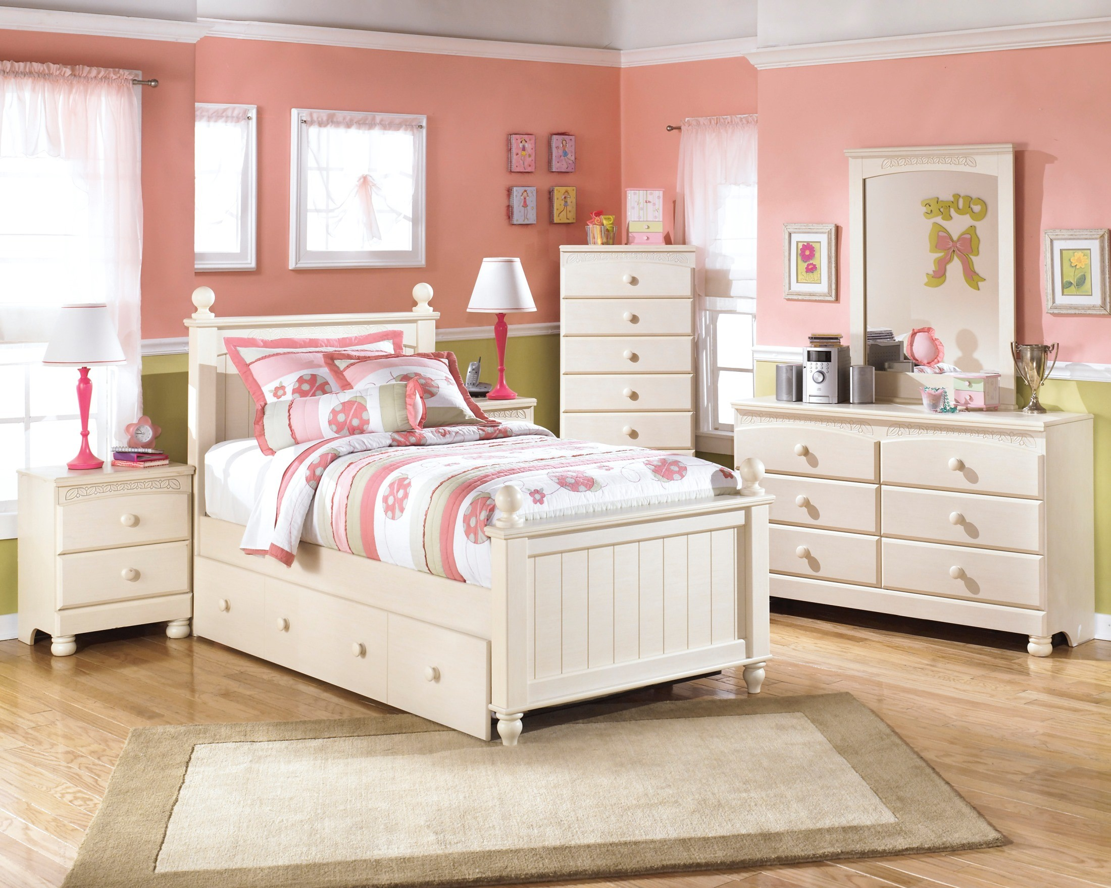 Cottage Retreat Youth Poster Trundle Bedroom Set From Ashley Coleman Furniture