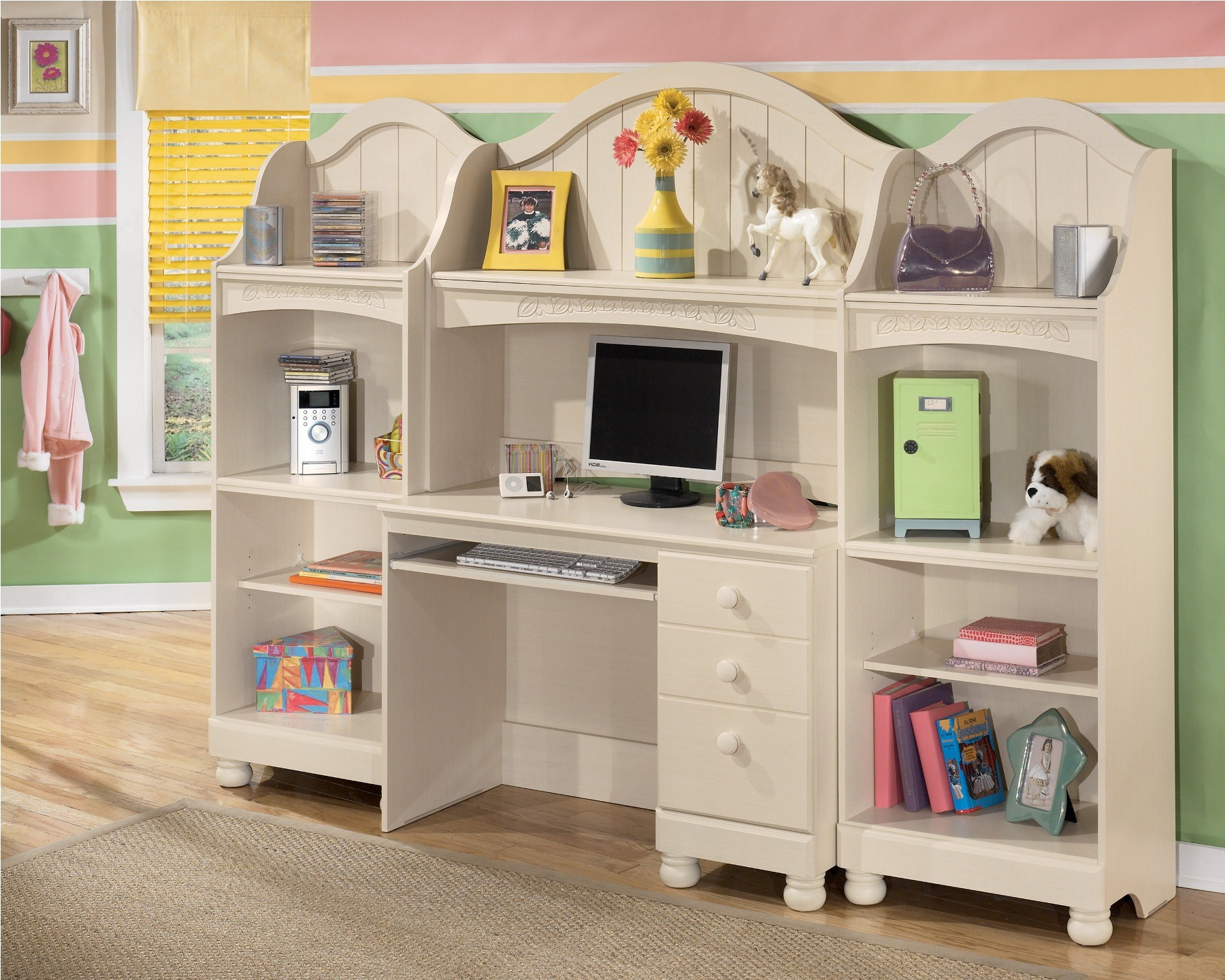 furniture bedroom buy cottage retreat brilliant with kaslyn ashley girls panel new practical sets set kids