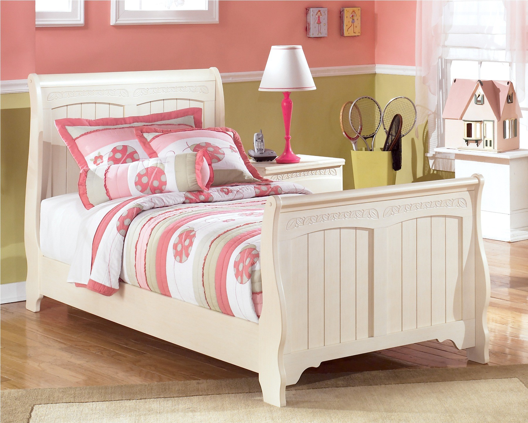 Cottage retreat full sleigh bed from ashley b213 87 84 88 for Cottage retreat ii