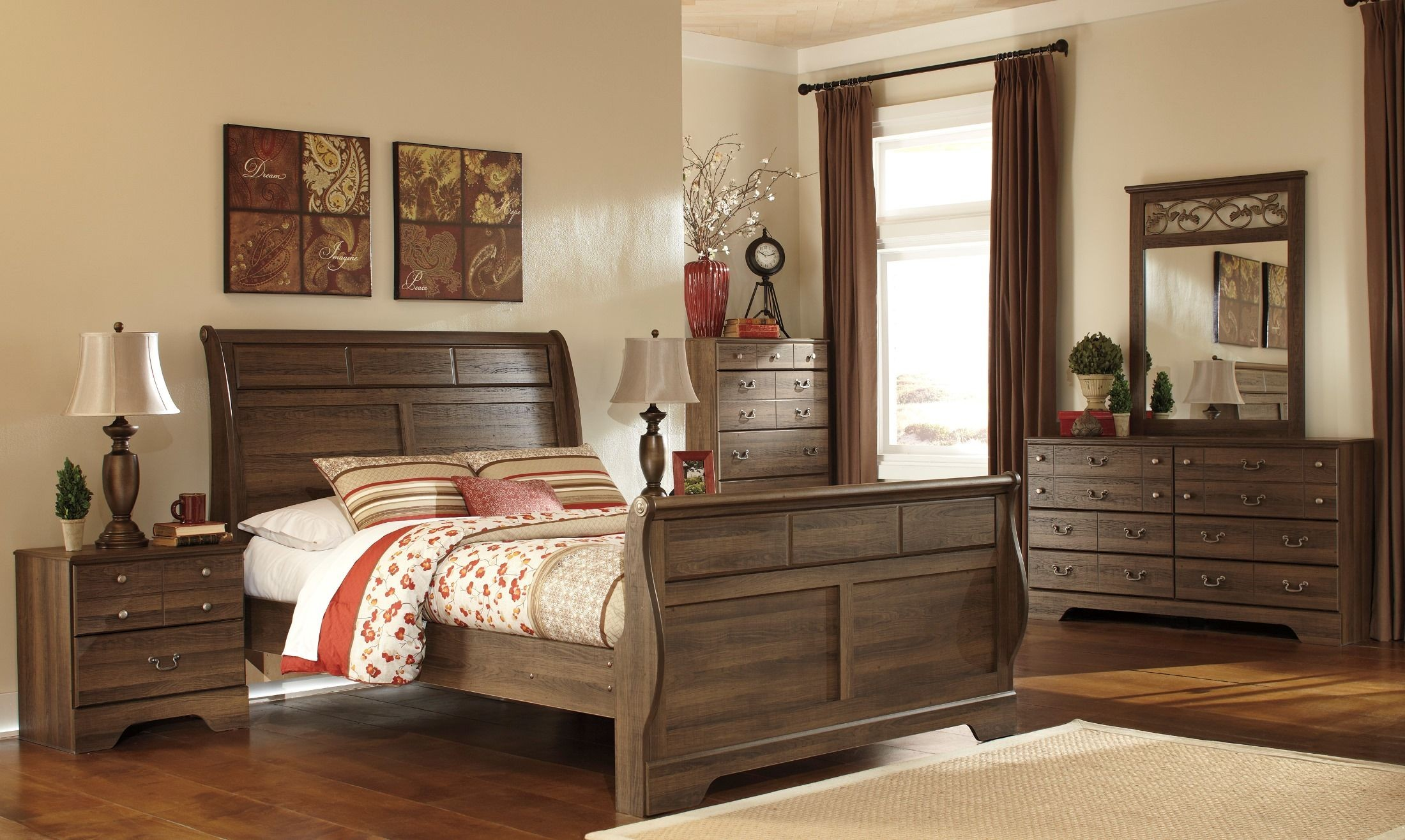 Allymore Sleigh Bedroom Set From Ashley B216 65 63 86