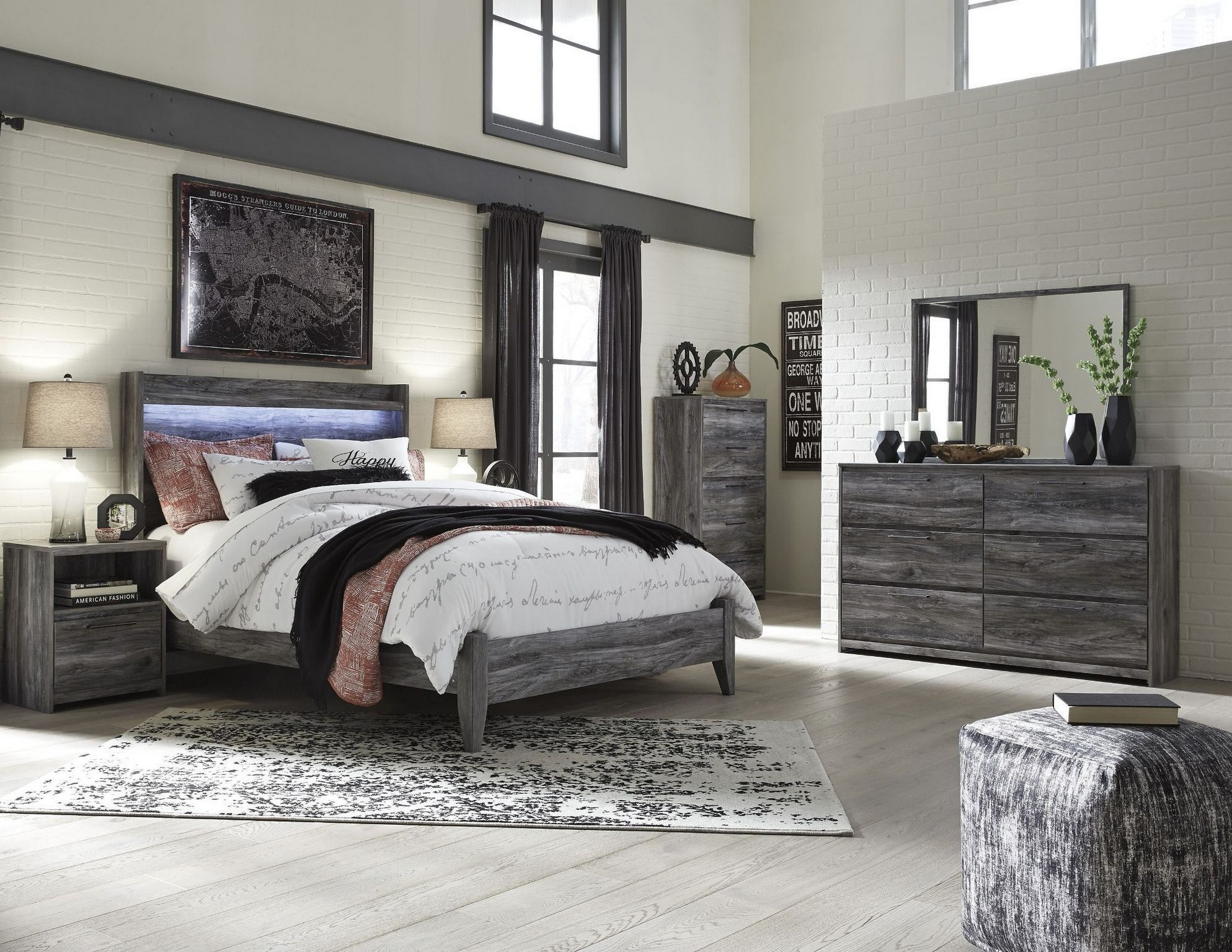 Baystorm Gray Panel Bedroom Set From Ashley