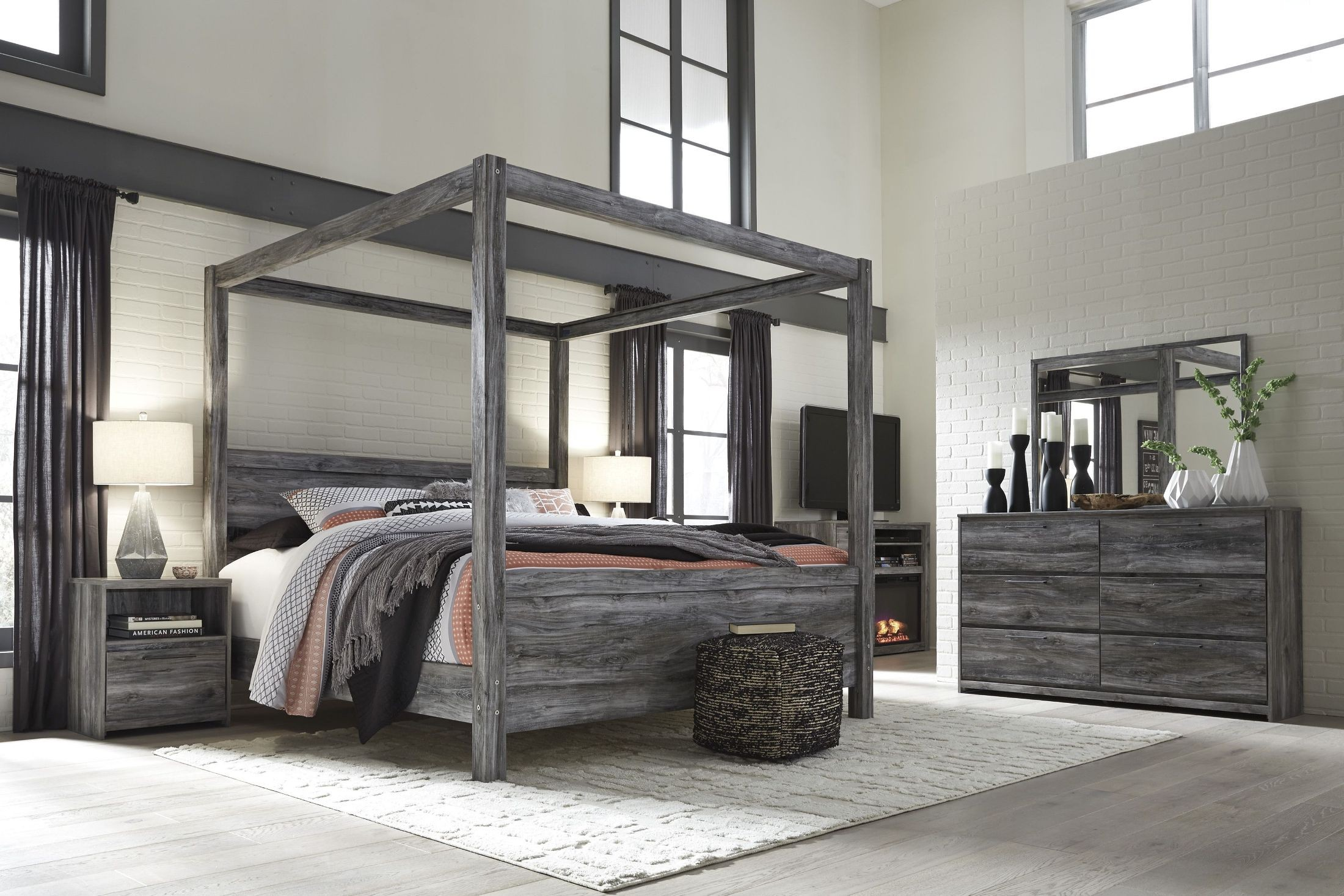 Ashley Furniture King Size Canopy Bed