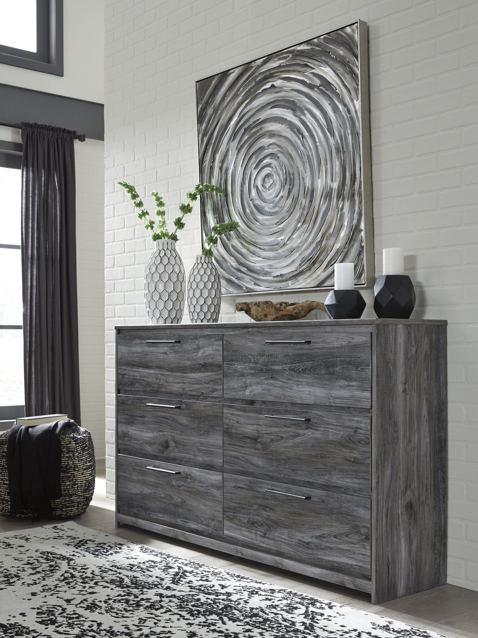 Baystorm Gray Dresser from Ashley | Coleman Furniture