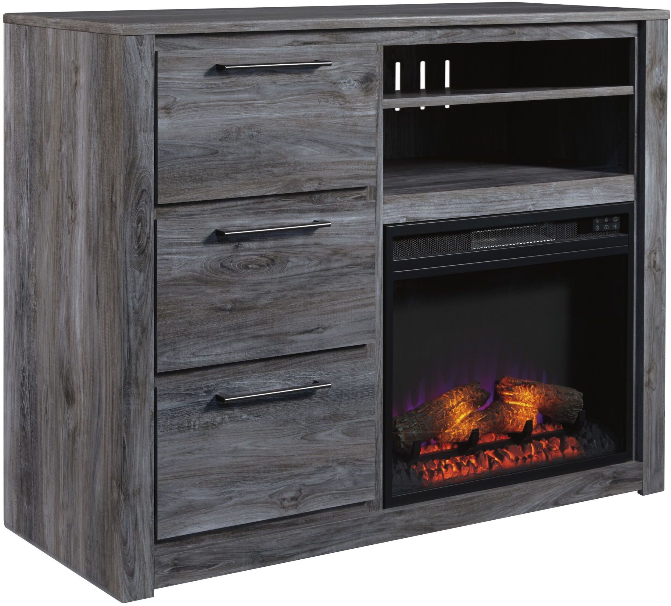 fireplace flat electric insert ventless amazon inch heater p
