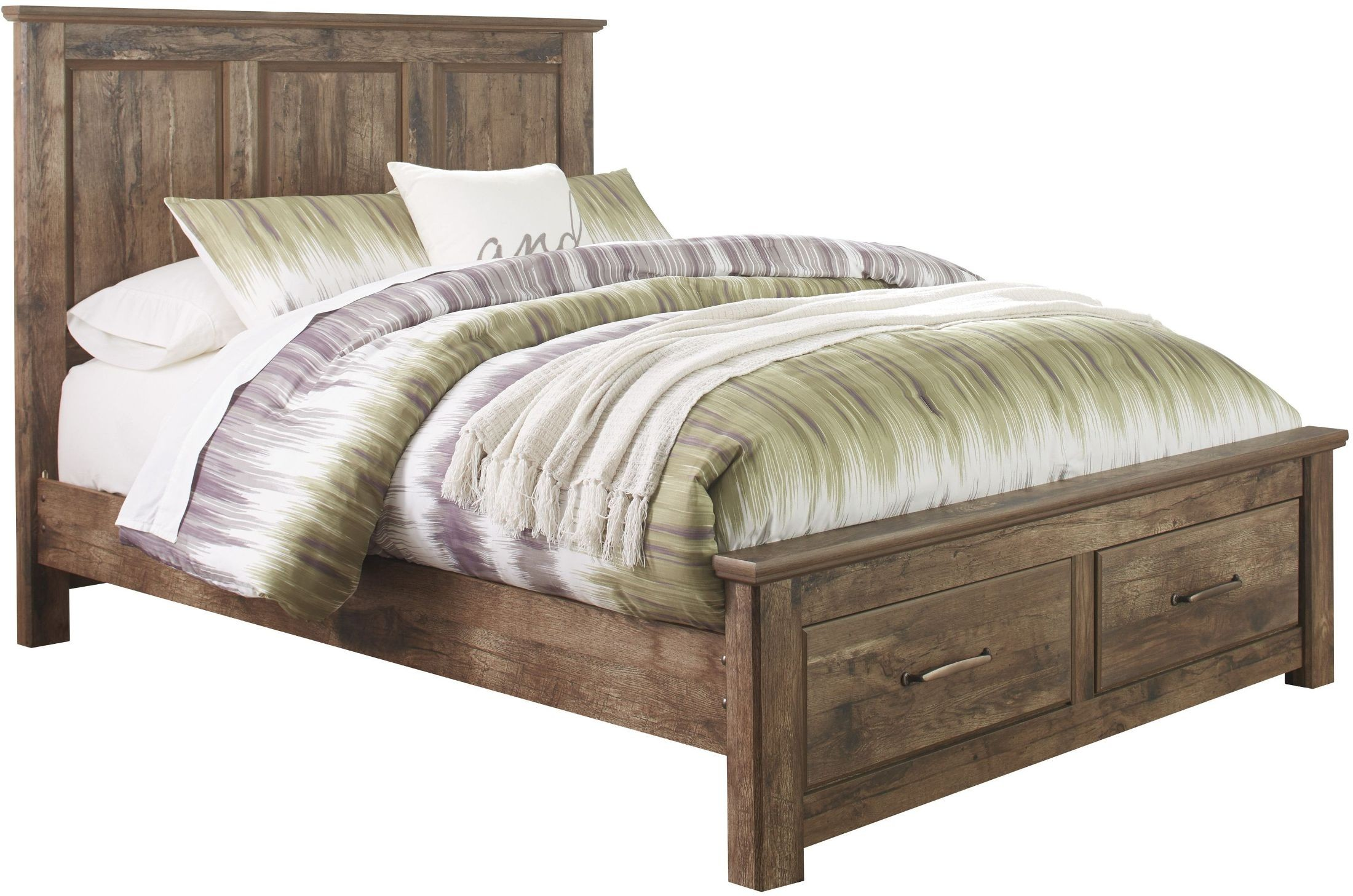 blaneville brown queen storage bed from ashley coleman furniture. Black Bedroom Furniture Sets. Home Design Ideas