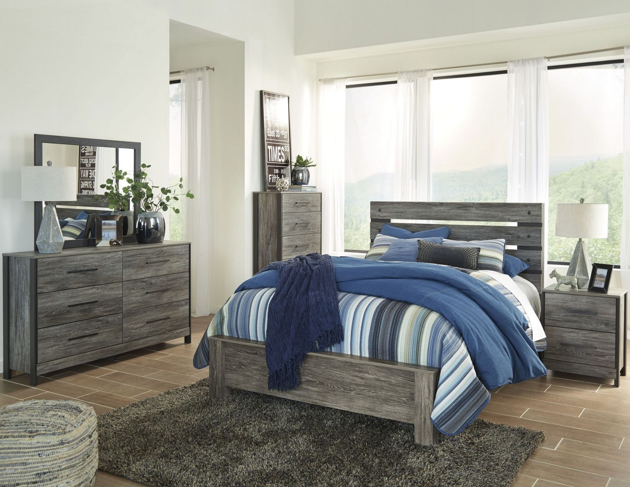 Cazenfeld Black And Gray Panel Bedroom Set From Ashley
