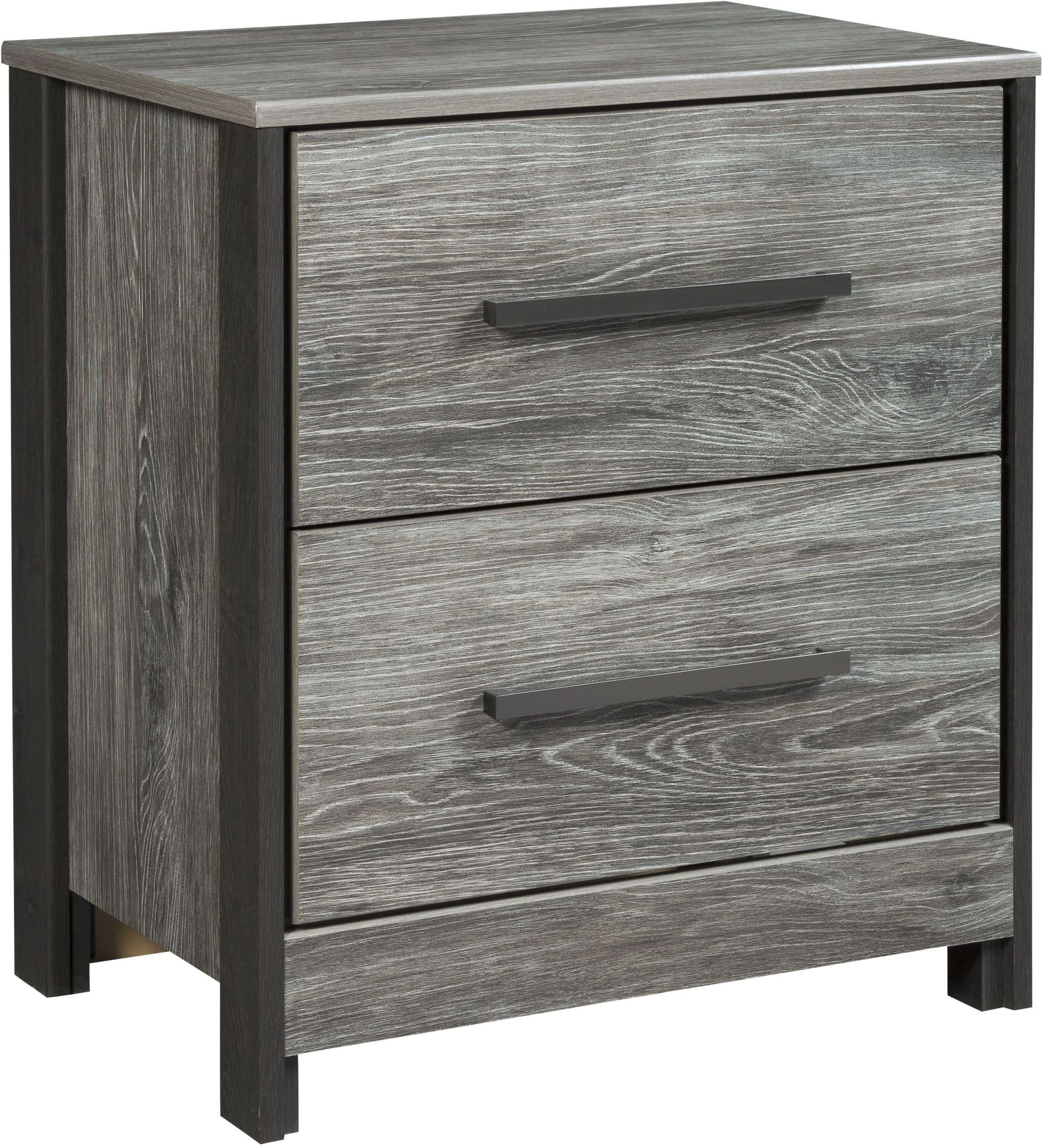 Cazenfeld Black And Gray Dresser: Cazenfeld Black And Gray Two Drawer Nightstand From Ashley