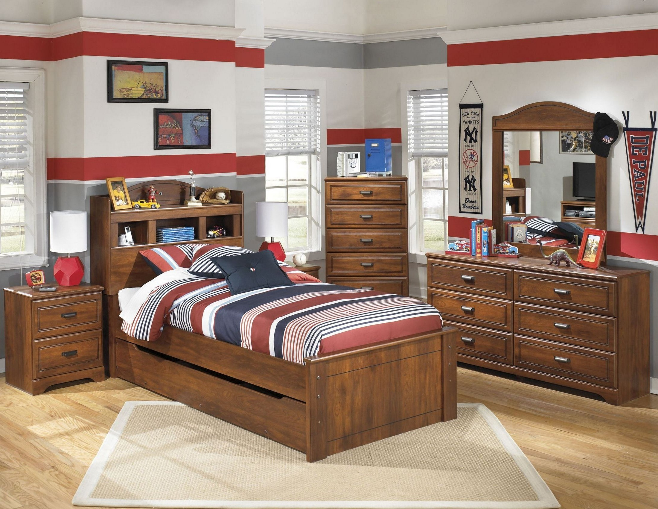 Barchan Youth Trundle Bookcase Bedroom Set From Ashley Coleman Furniture