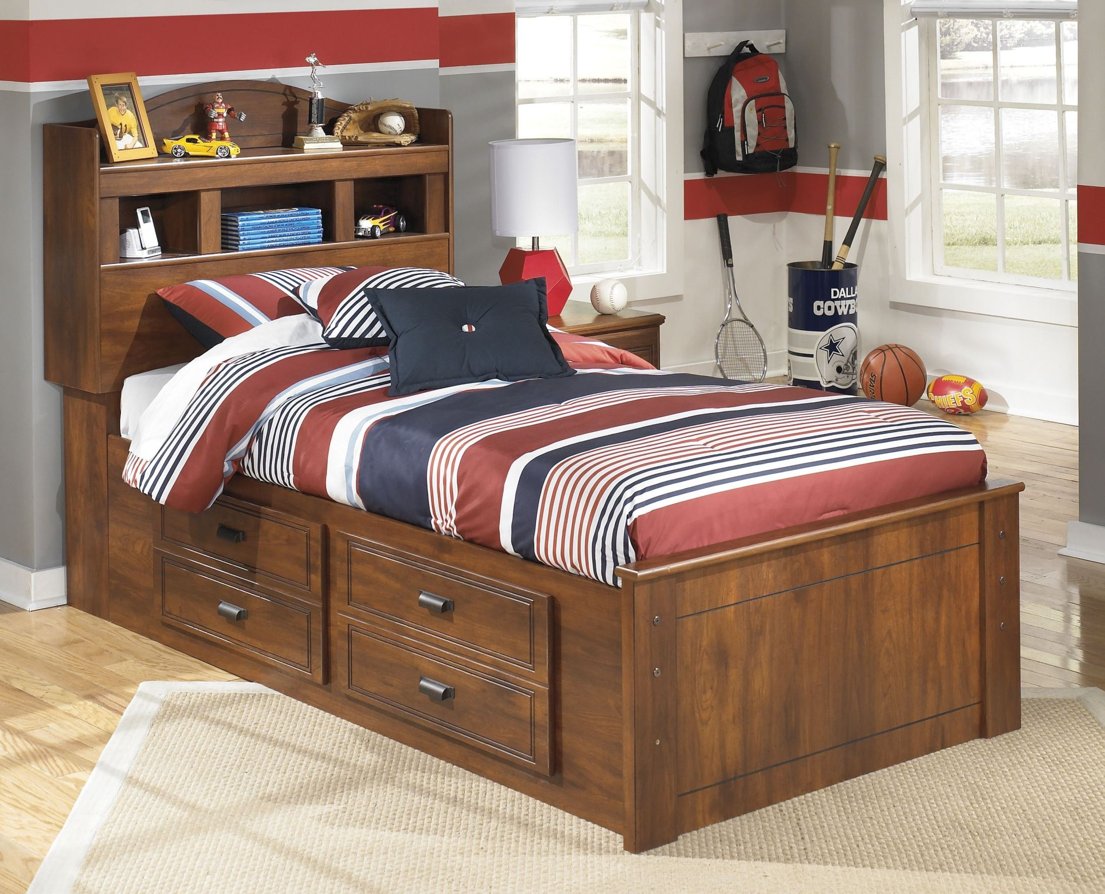 Barchan Twin Bookcase Underbed Storage Bed From Ashley
