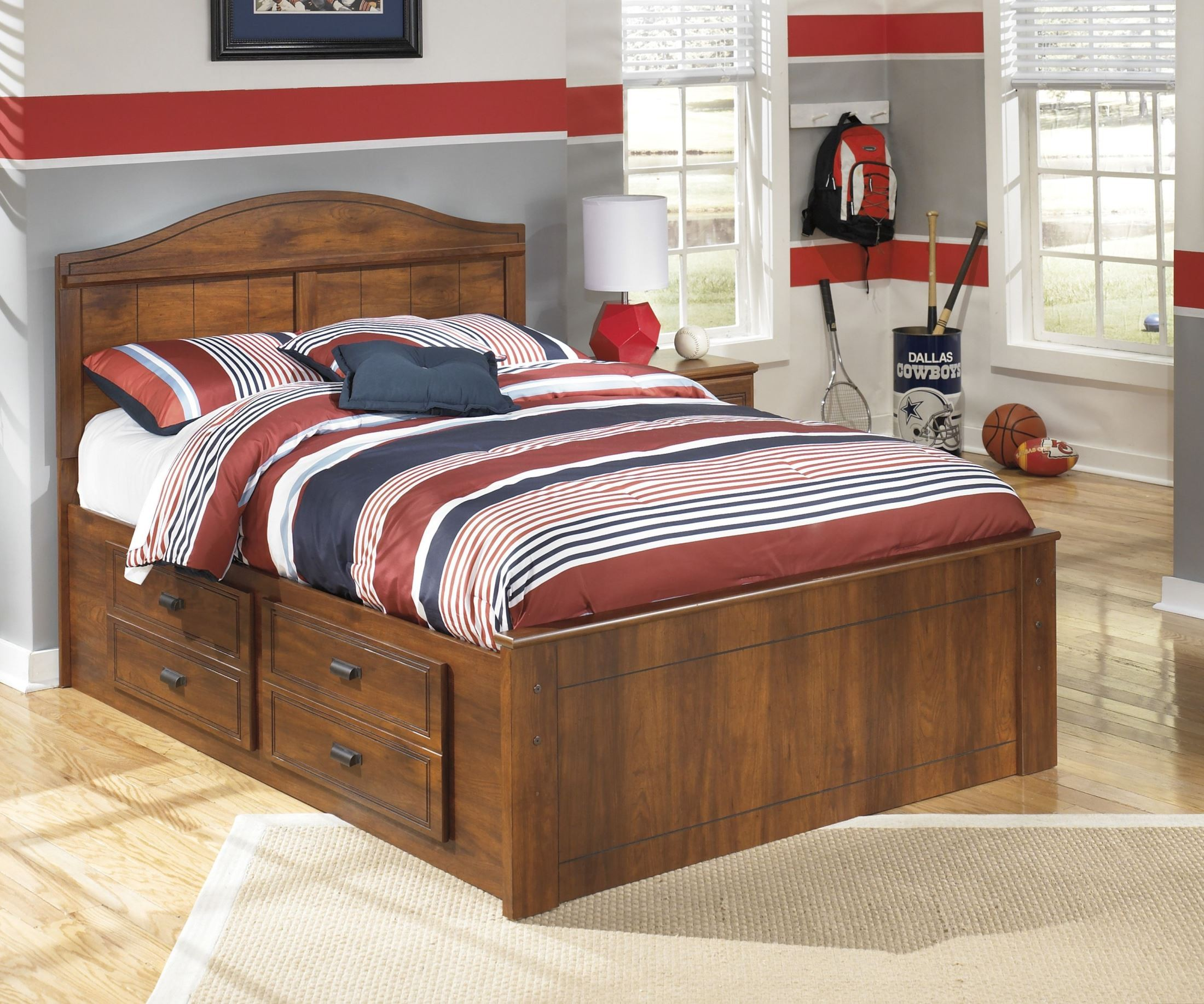 Barchan Full Panel Bed With Underbed Storage, B228-50-87