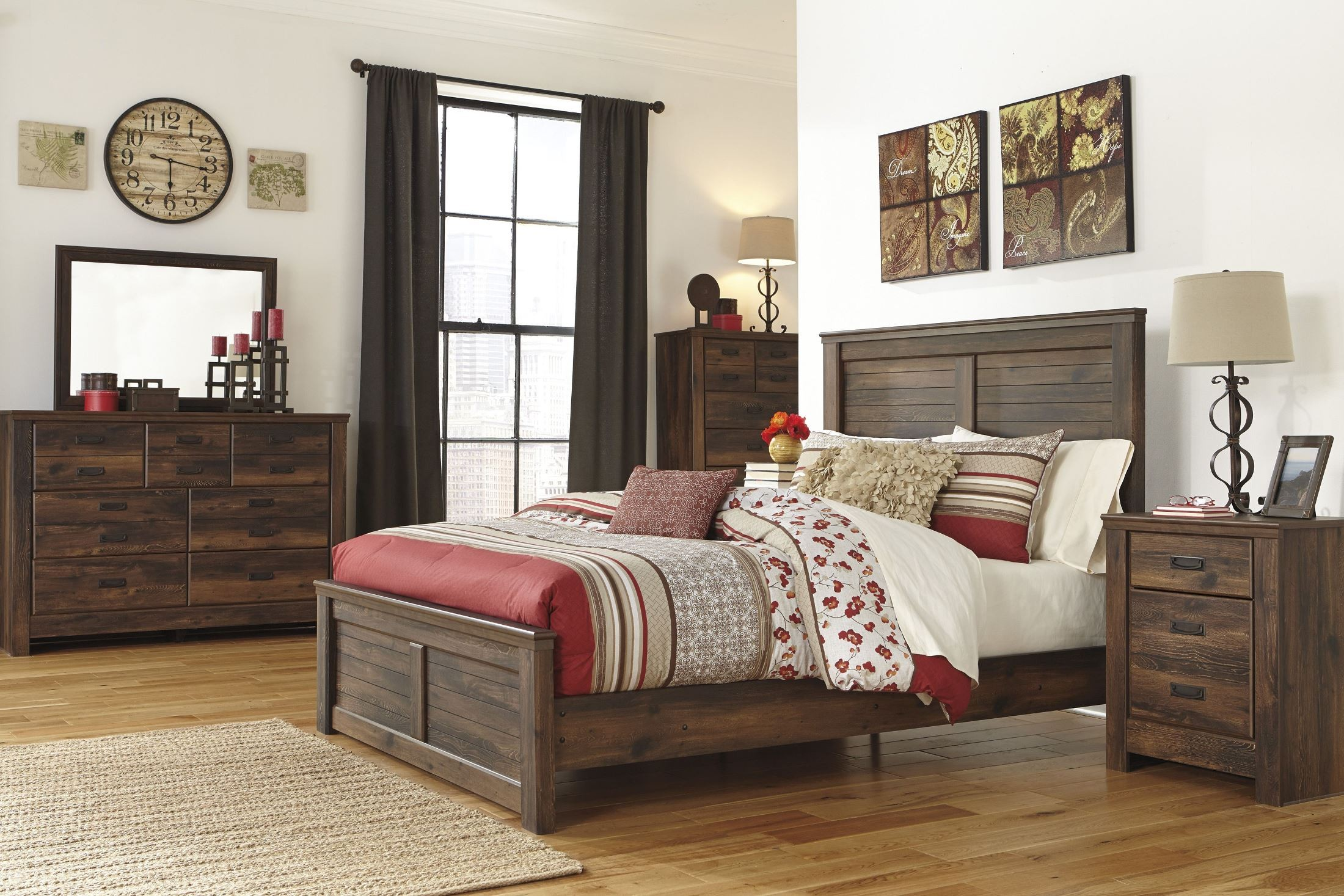 Quinden Panel Bedroom Set from Ashley (B246-57-54-98) | Coleman ...
