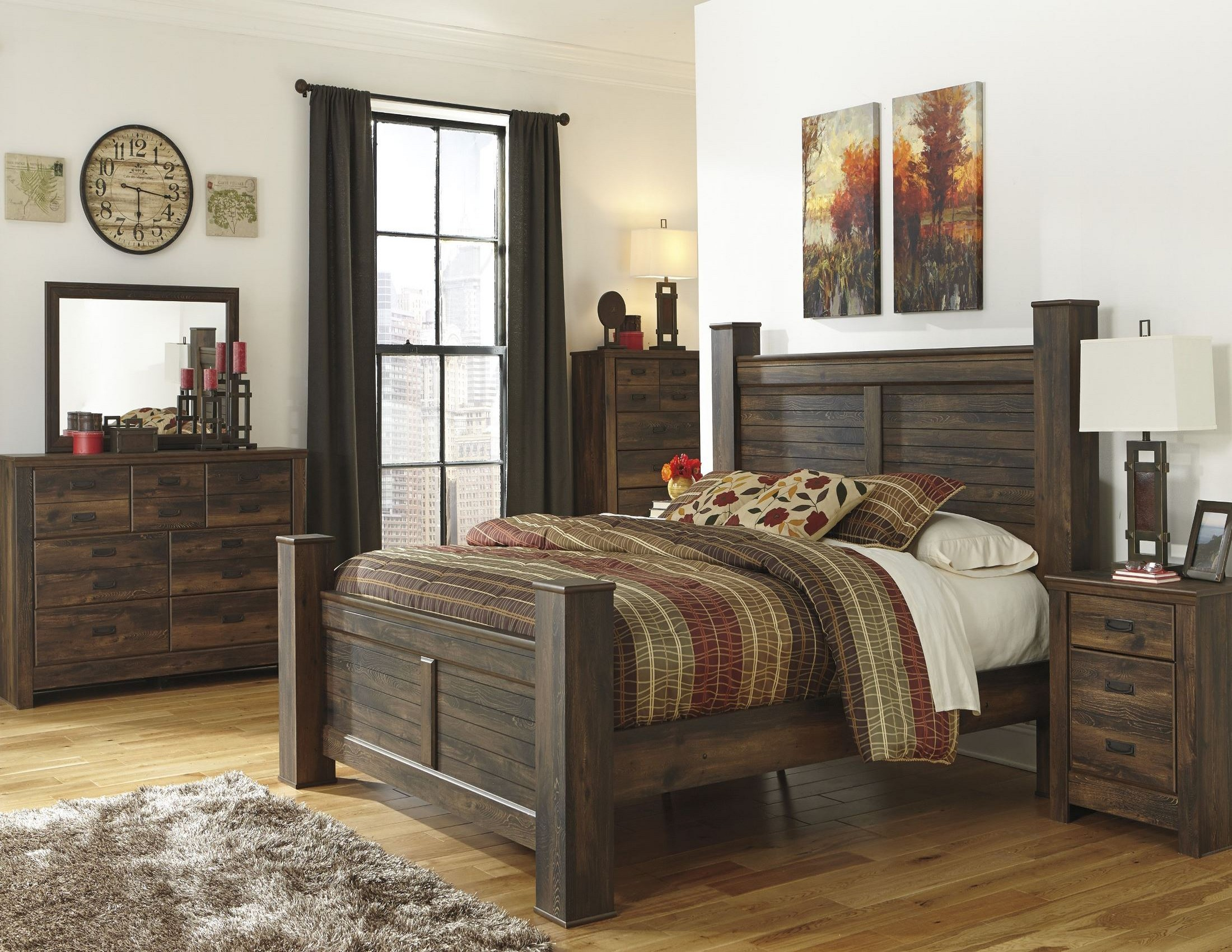 Quinden Poster Bedroom Set from Ashley (B246-61-64-67-98 ...
