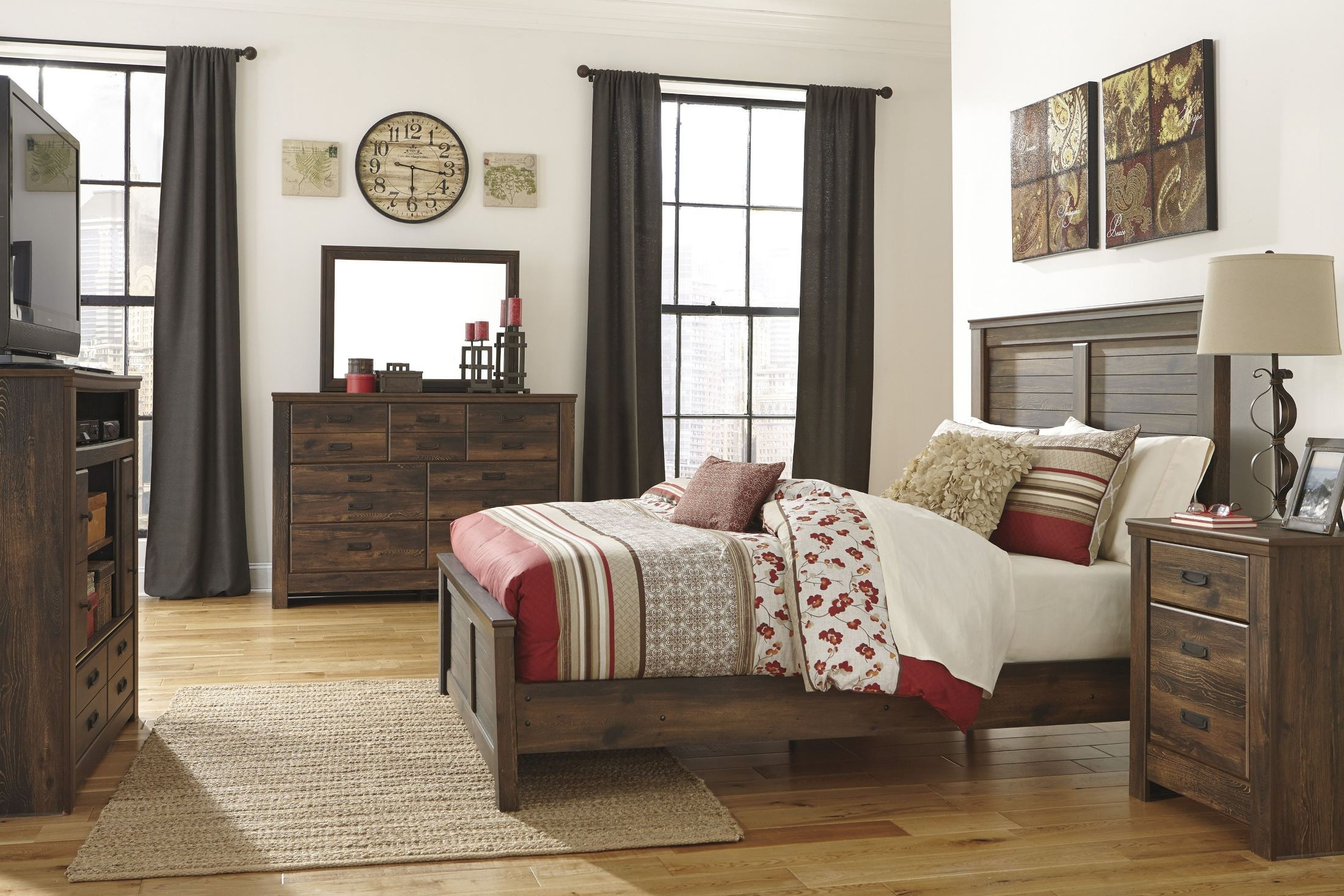 Quinden Panel Bedroom Set From Ashley B246 57 54 98