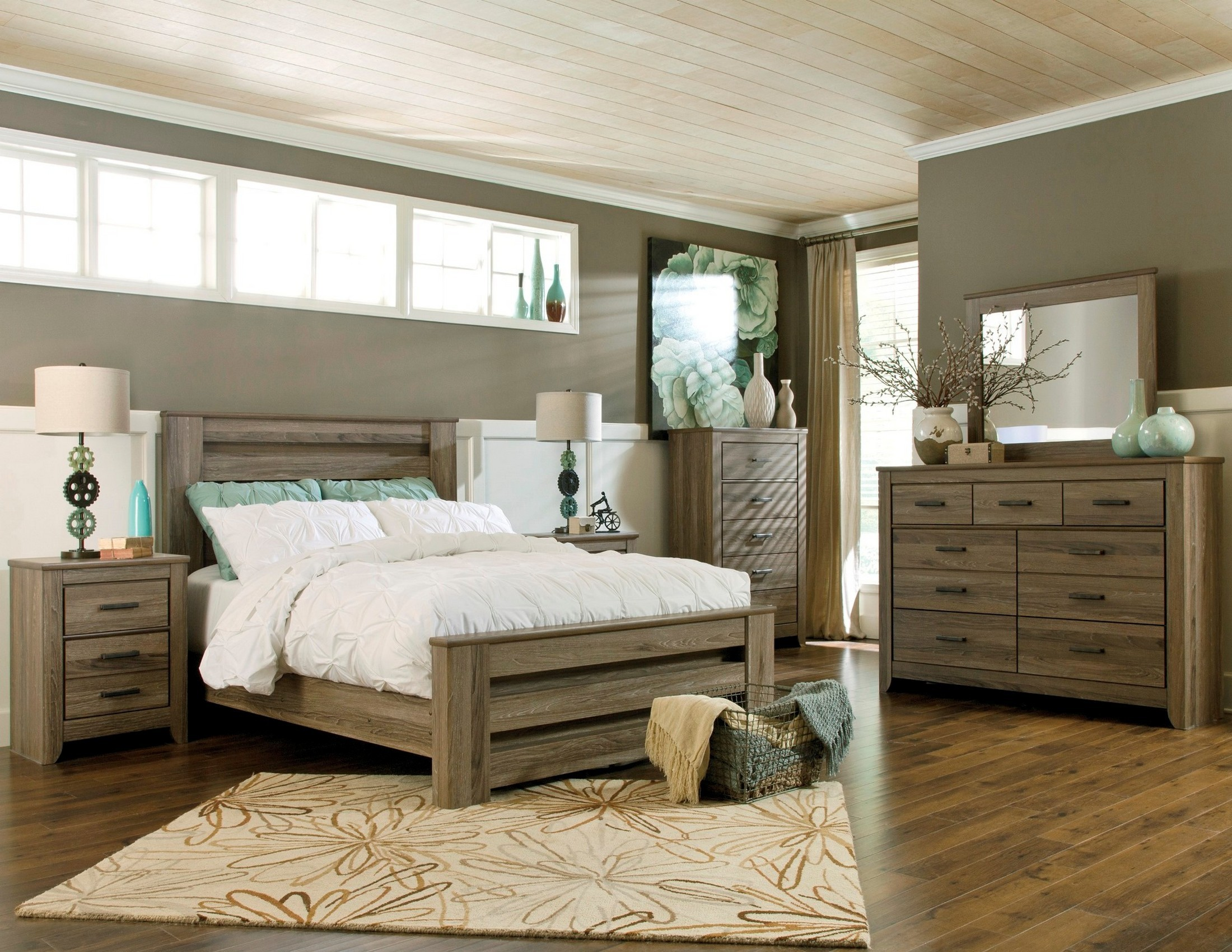 Zelen Poster Bedroom Set From Ashley B248 67 64 98 Coleman Furniture
