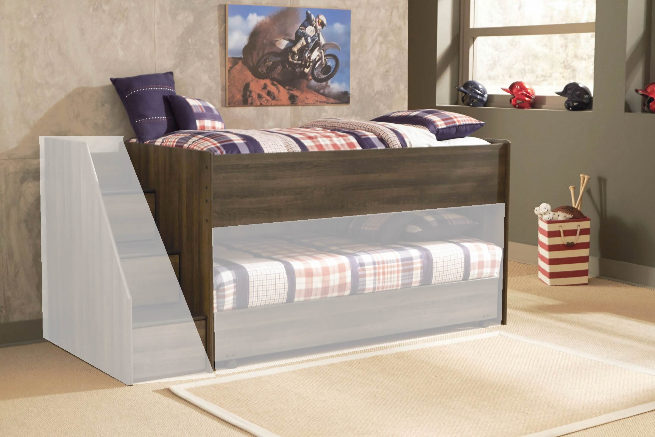 Juararo twin loft bed from ashley coleman furniture for Loft net bed