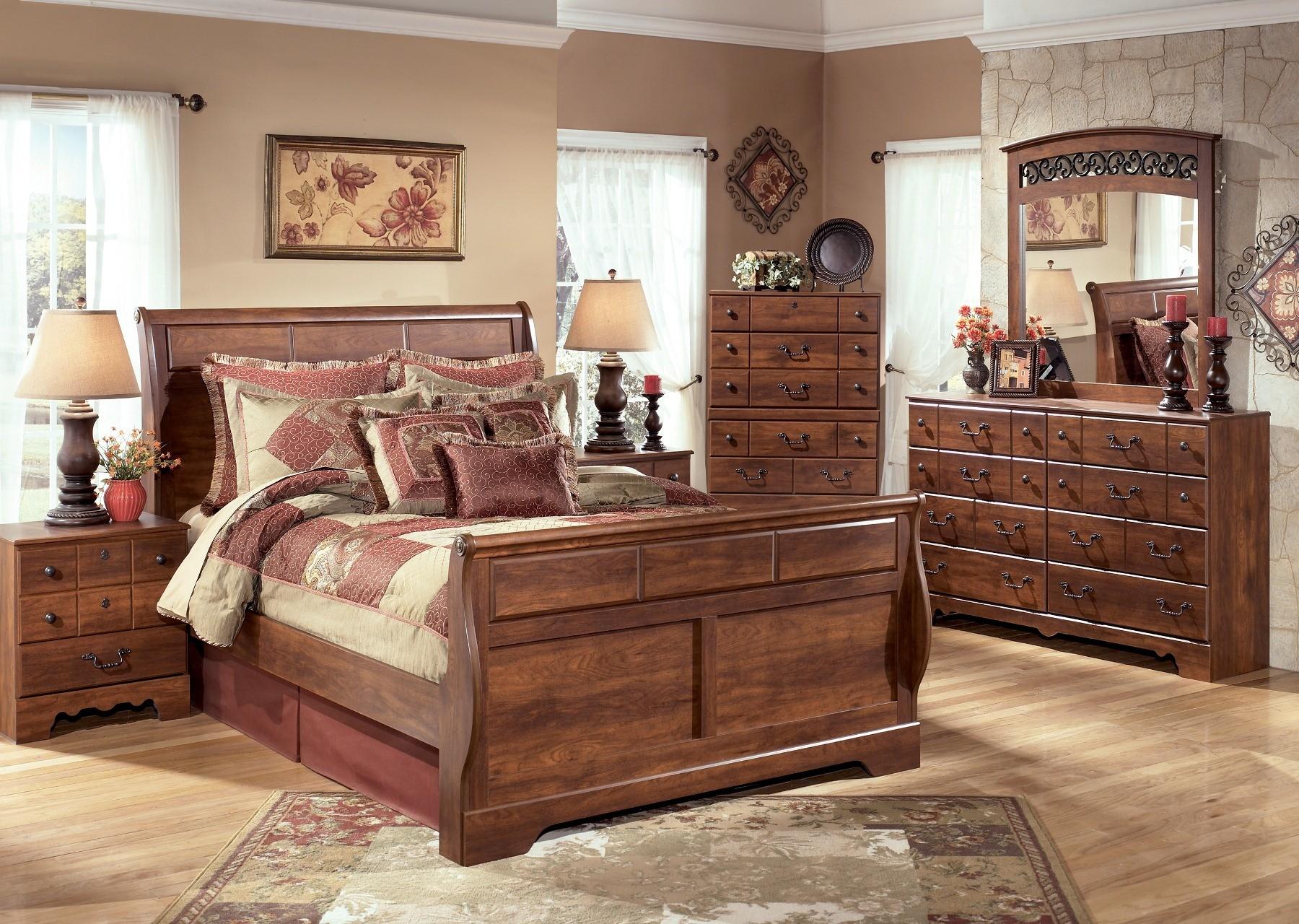 timberline sleigh bedroom set from ashley b258sl