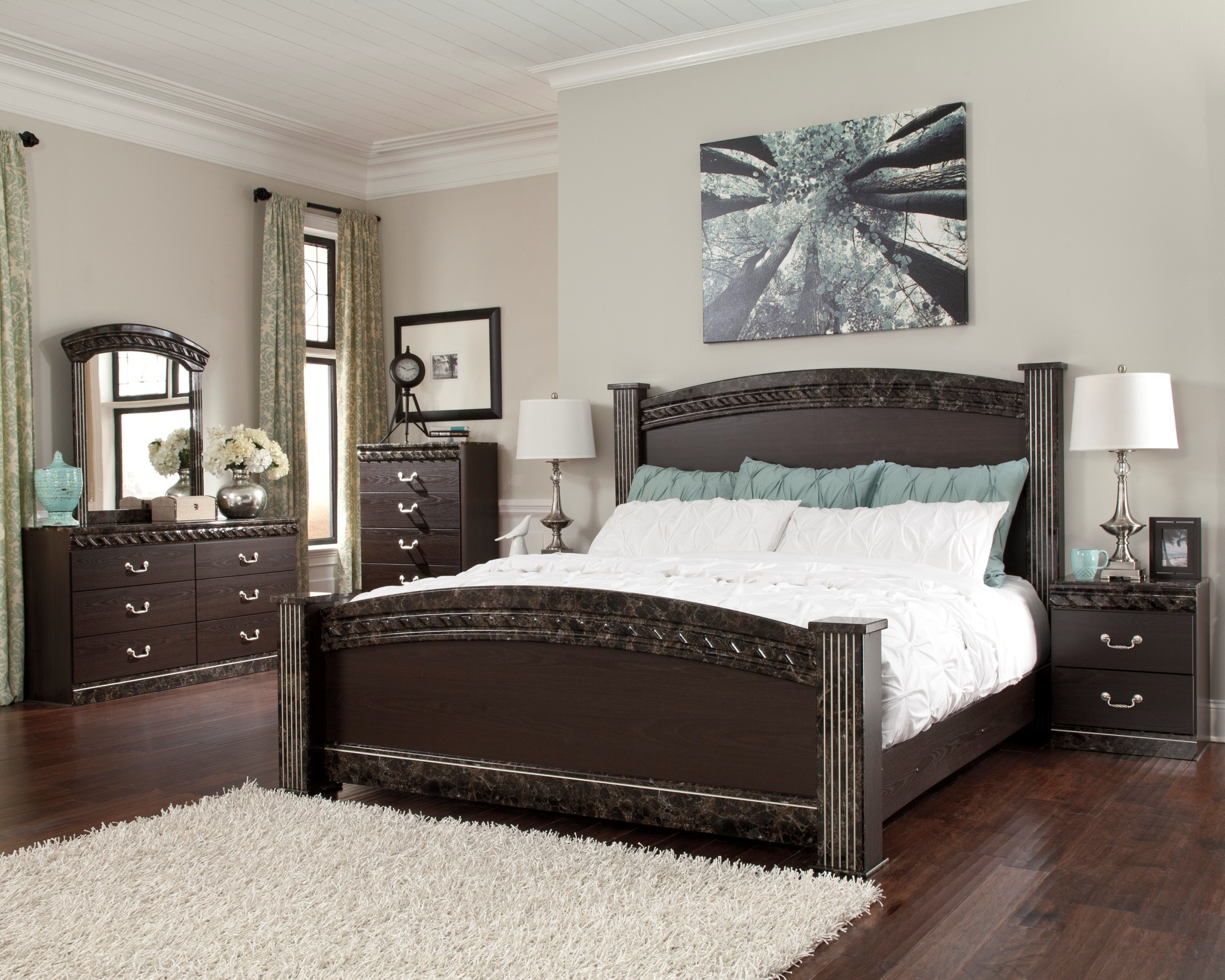 vachel poster bedroom set from ashley b264 67 64 98 61 coleman furniture. Black Bedroom Furniture Sets. Home Design Ideas