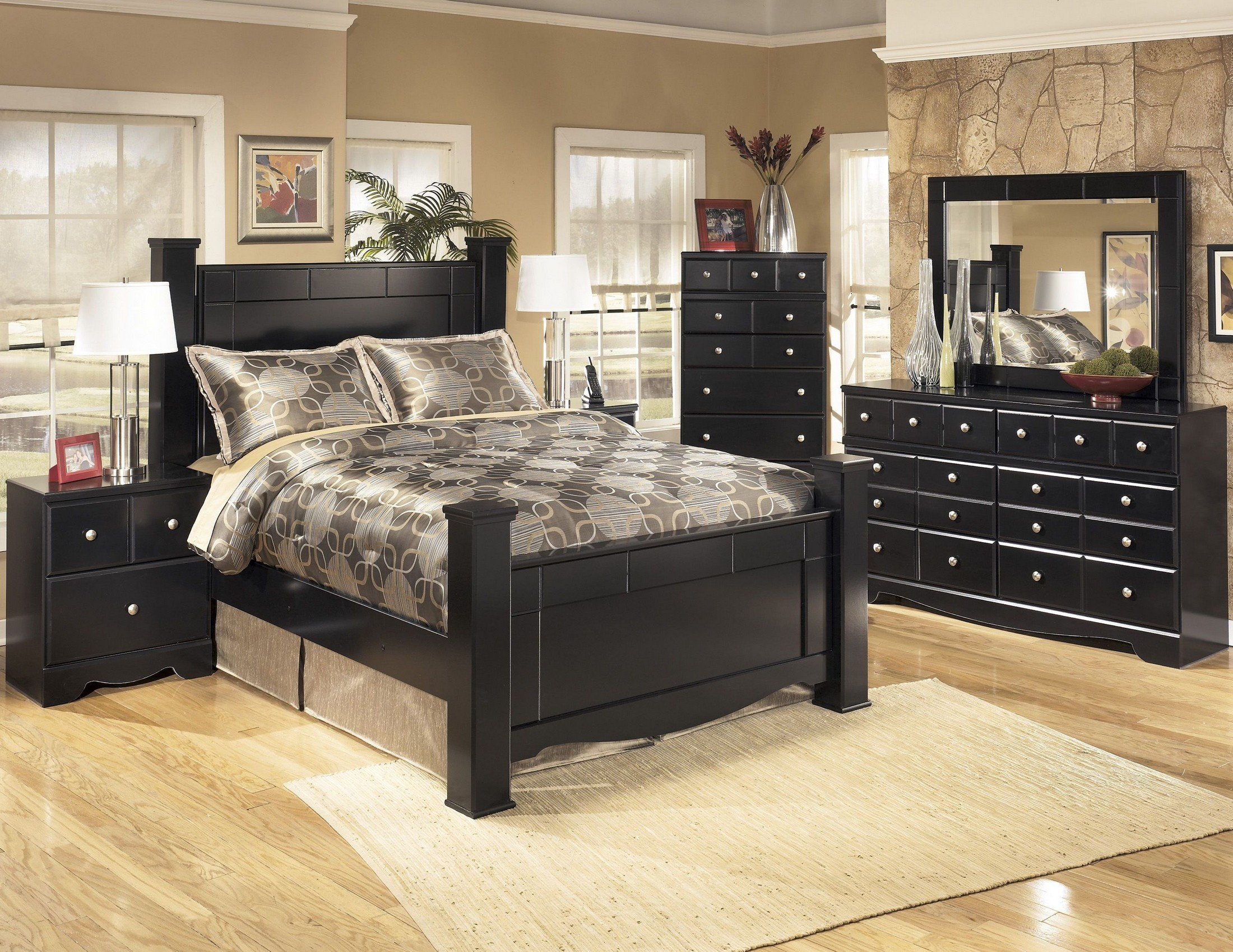 shay poster bedroom set from ashley b271 61 64 67 98 coleman furniture. Black Bedroom Furniture Sets. Home Design Ideas