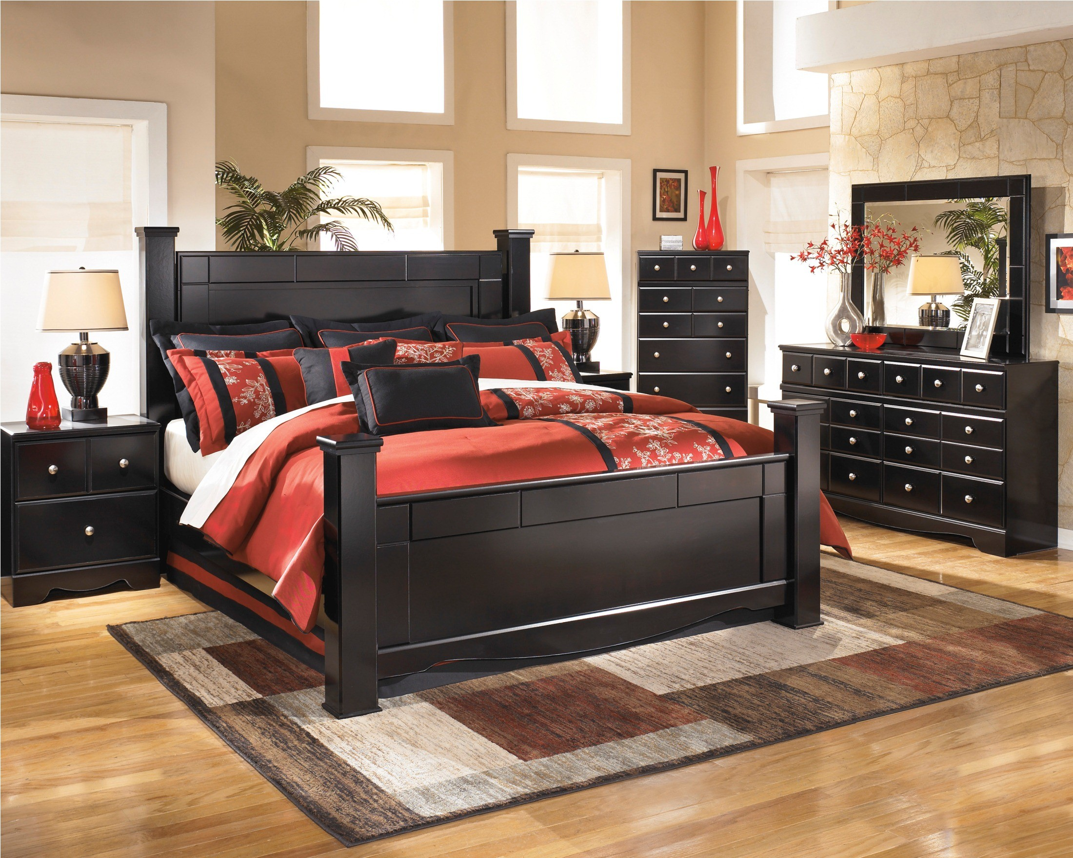 shay queen poster bed from ashley b271 61 64 67 98 coleman furniture