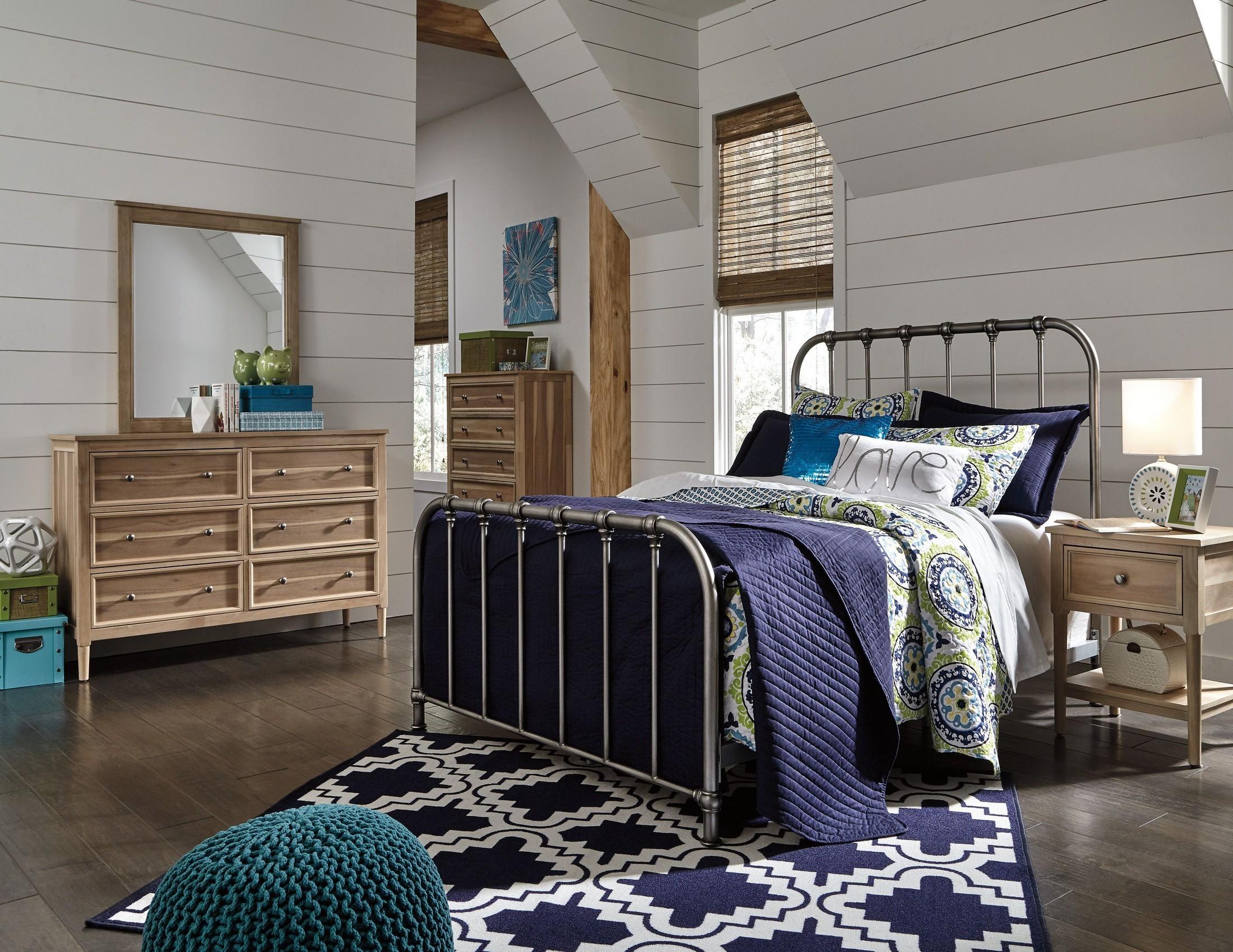 Nashburg Silver Metal Bedroom Set From Ashley Coleman Furniture