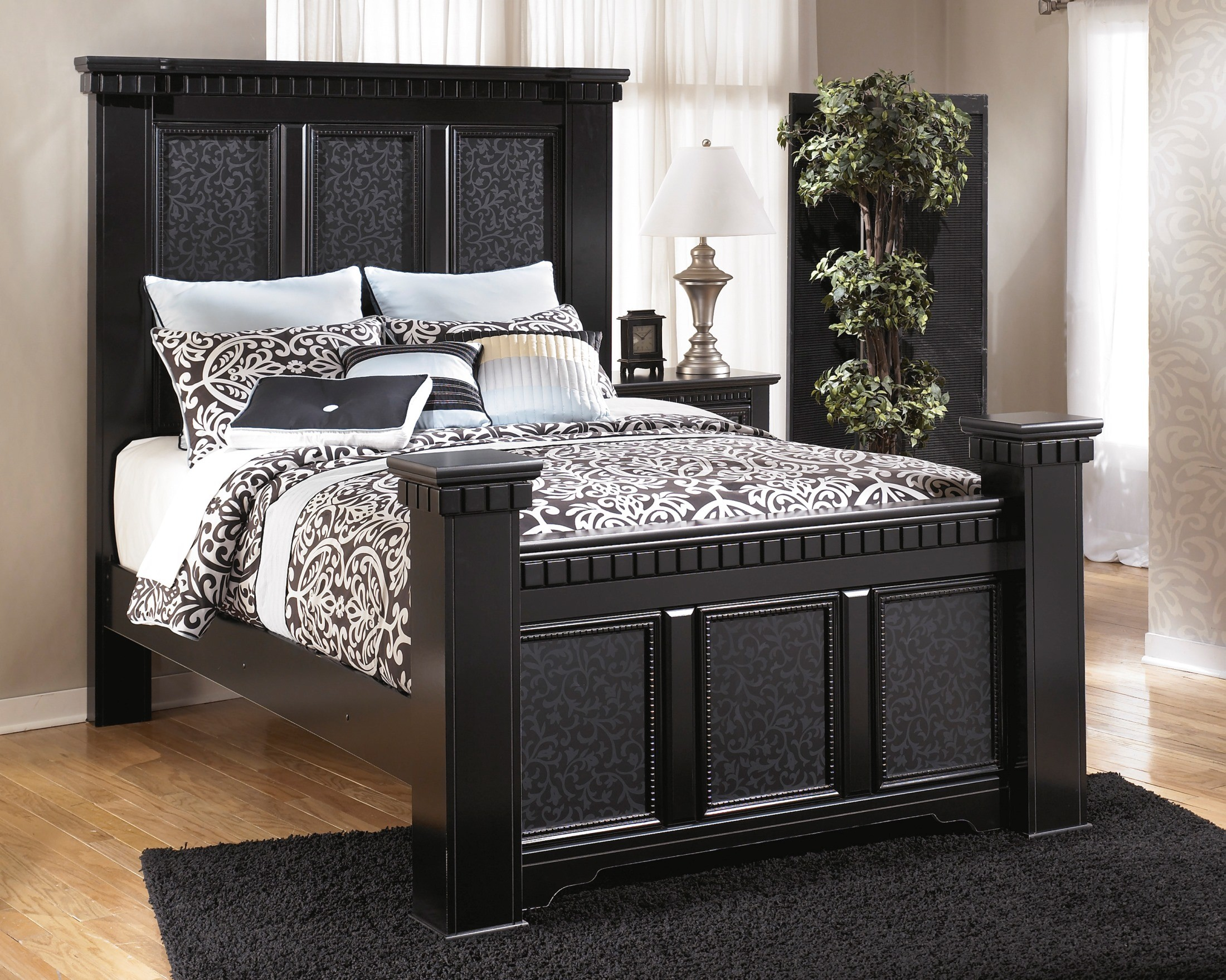 cavallino mansion bedroom set from ashley (b291) | coleman furniture