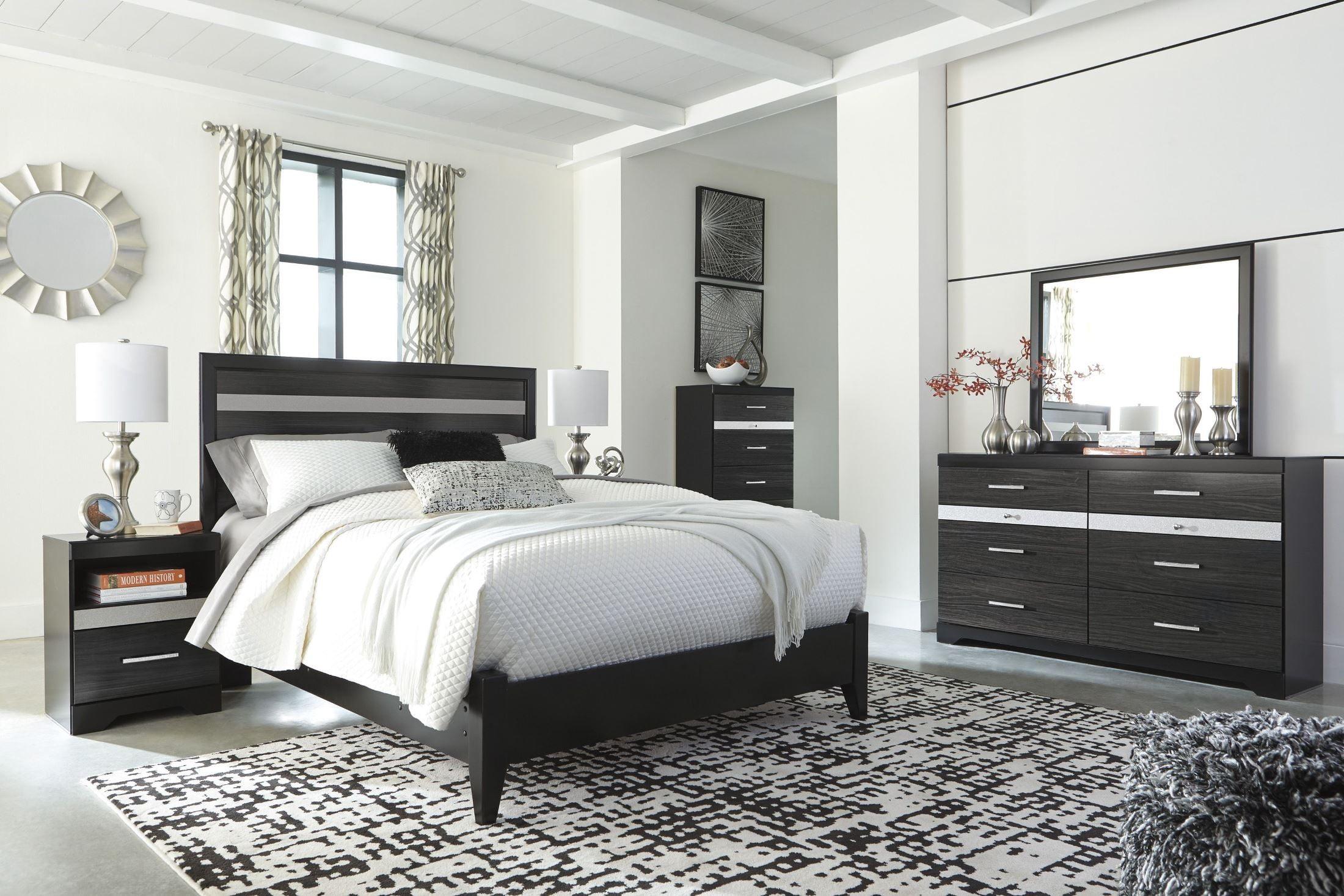 Starberry Black Panel Bedroom Set
