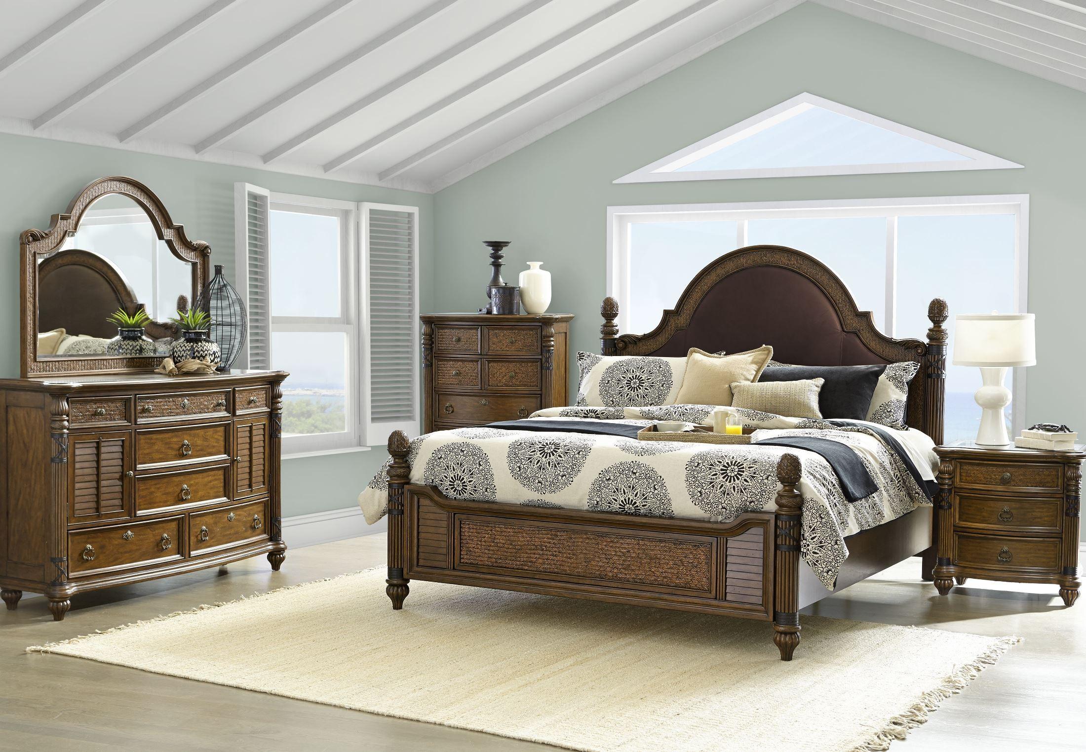 key west cognac panel bedroom set b3069 54 magnussen home. Black Bedroom Furniture Sets. Home Design Ideas