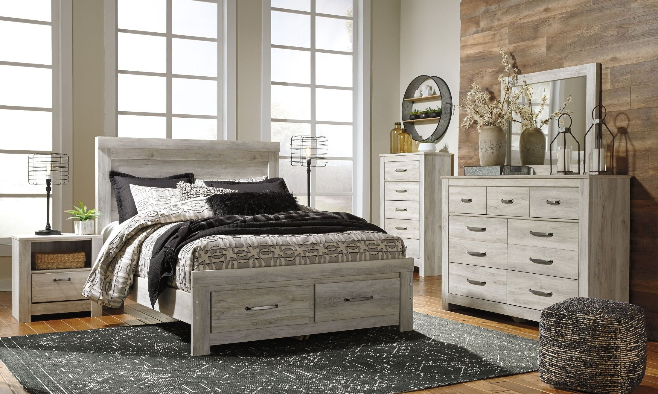 Cool Bellaby White Storage Panel Bedroom Set Home Interior And Landscaping Mentranervesignezvosmurscom
