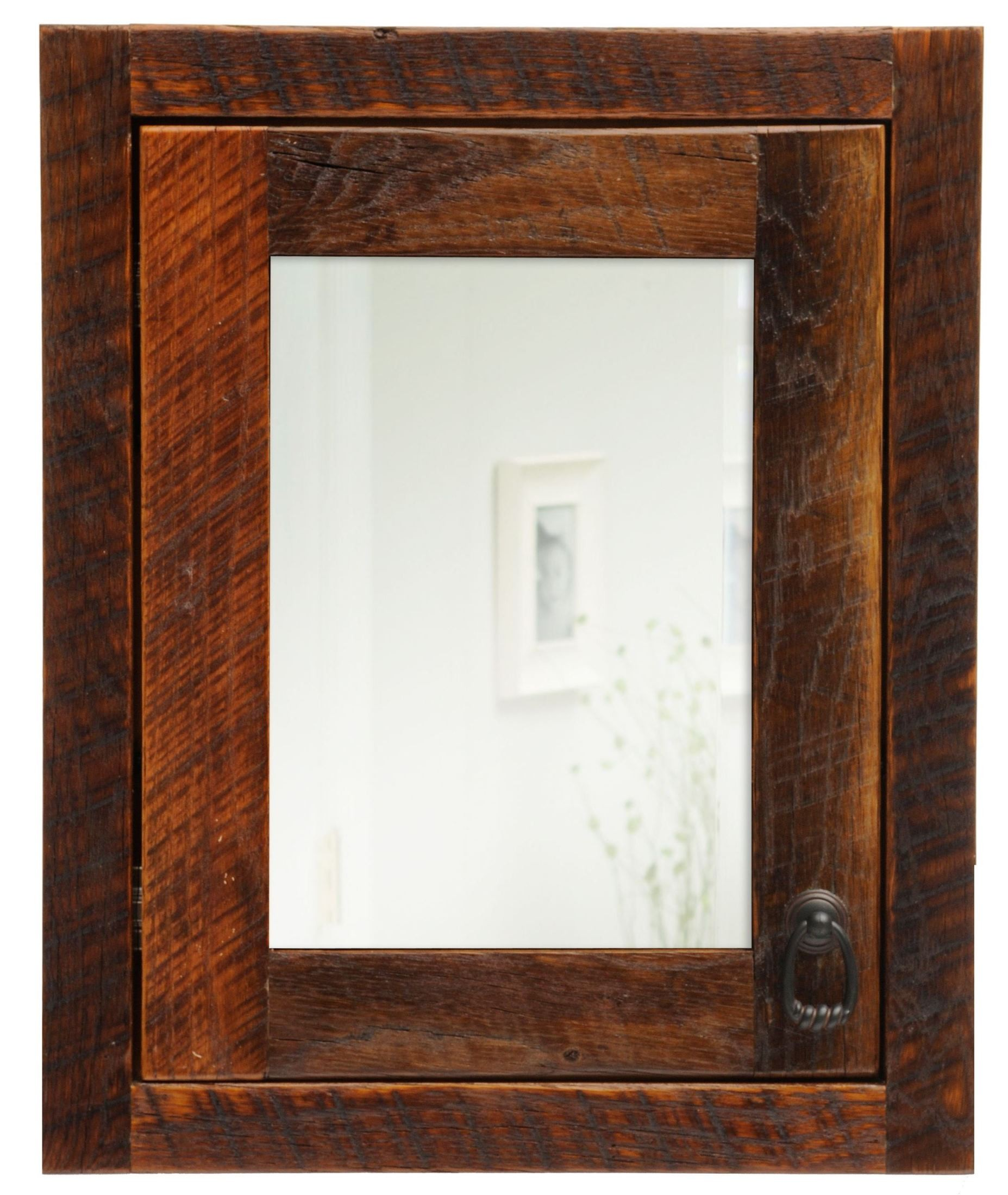 Barnwood Left Hinged Inset Medicine Cabinet From Fireside Lodge
