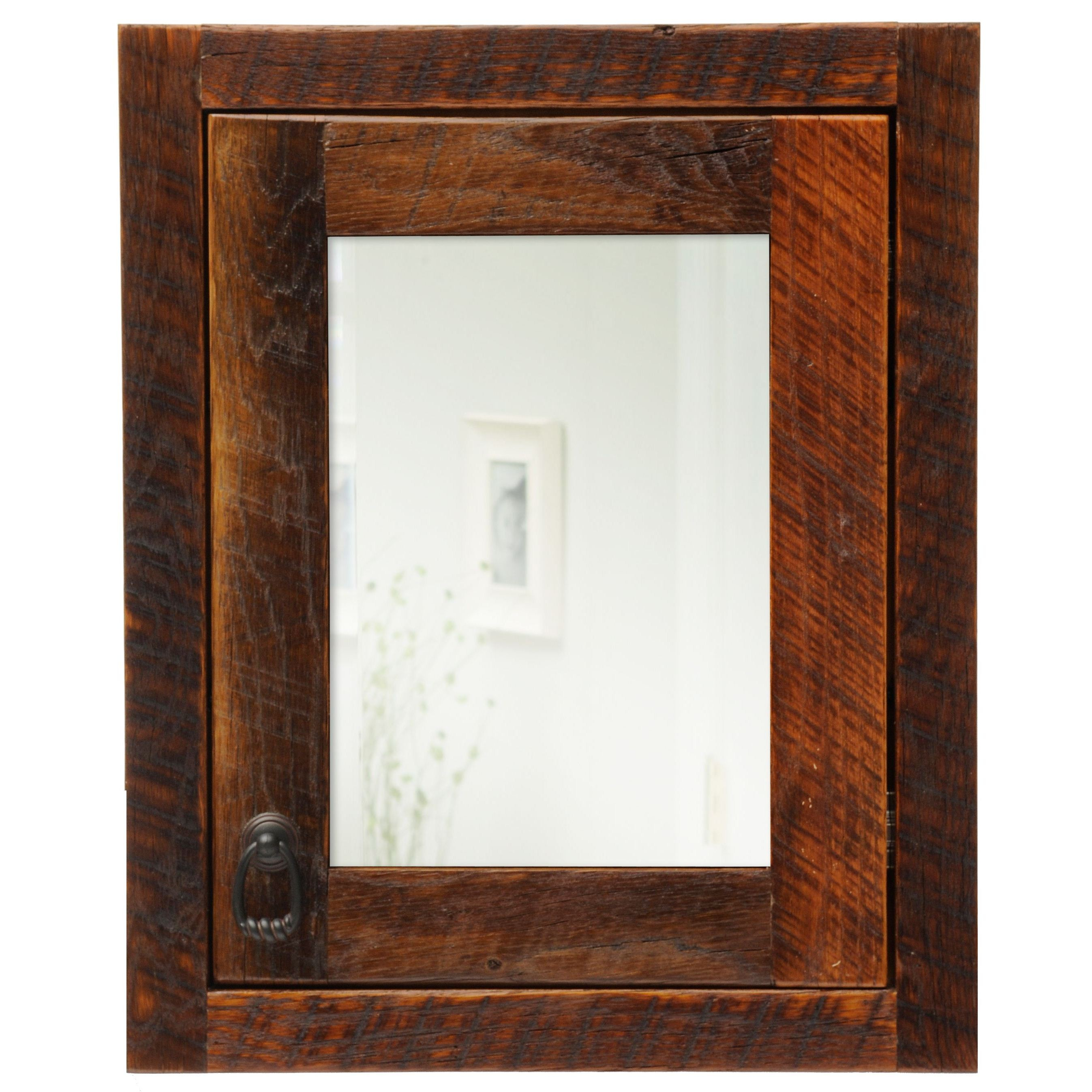 Barnwood right hinged inset medicine cabinet from fireside for Barnwood medicine cabinet
