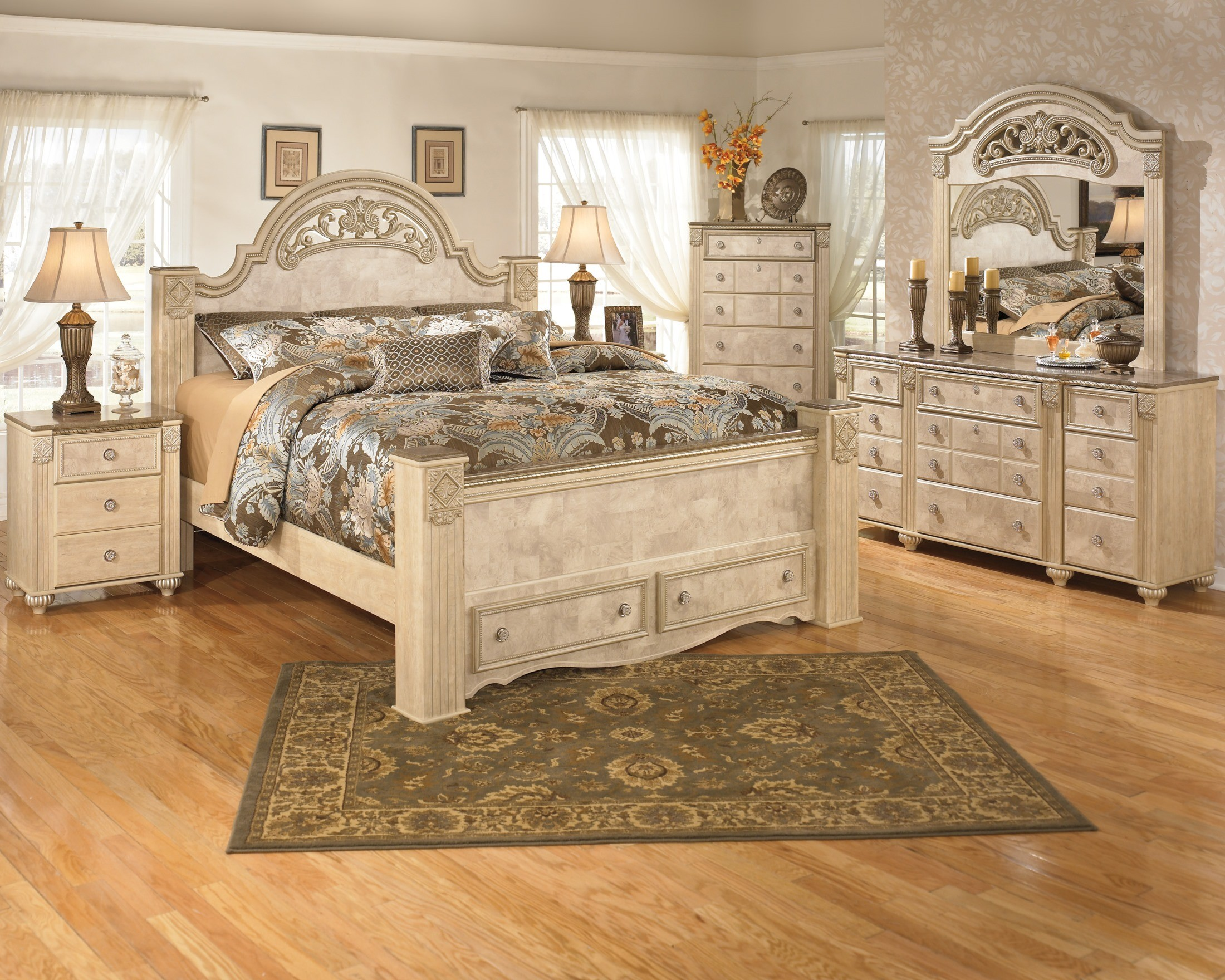 337279. Saveaha Poster Storage Bedroom Set from Ashley  B346 67 64S 50 98