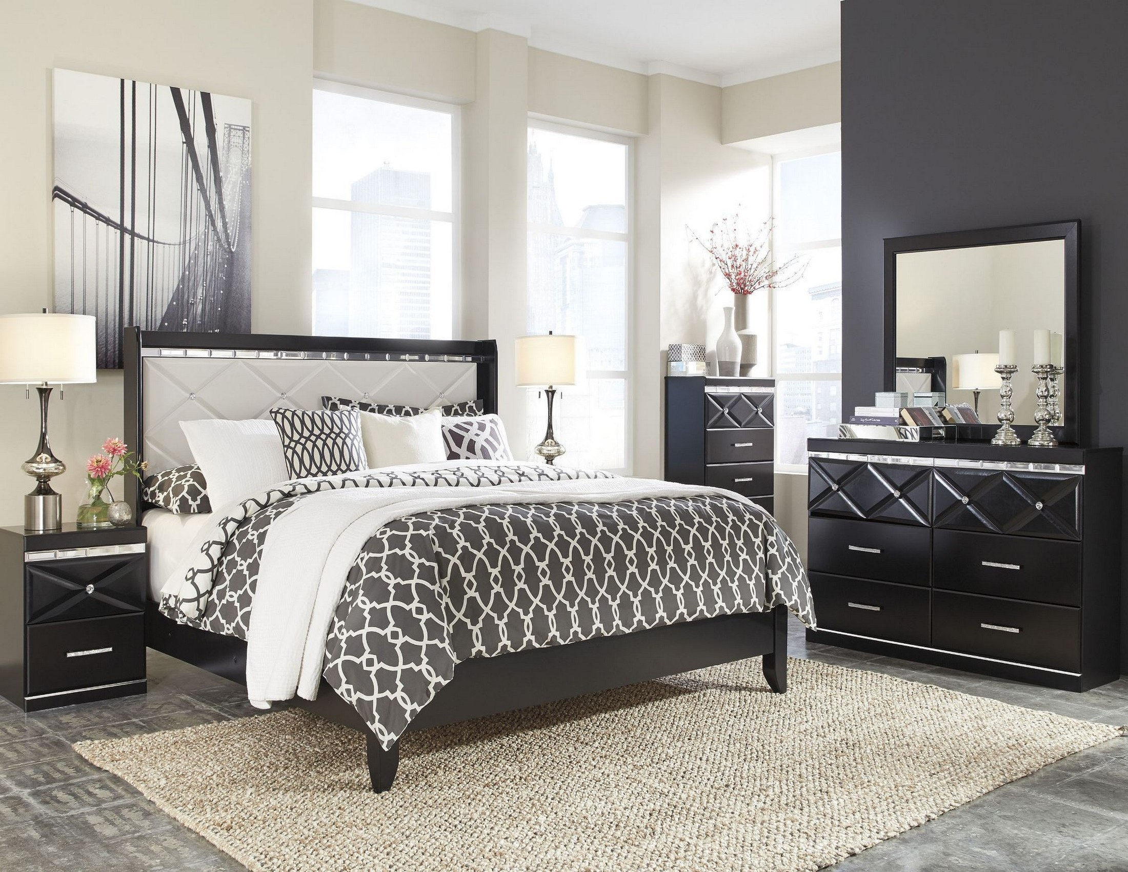 Fancee White Panel Bedroom Set From Ashley B348 57 54