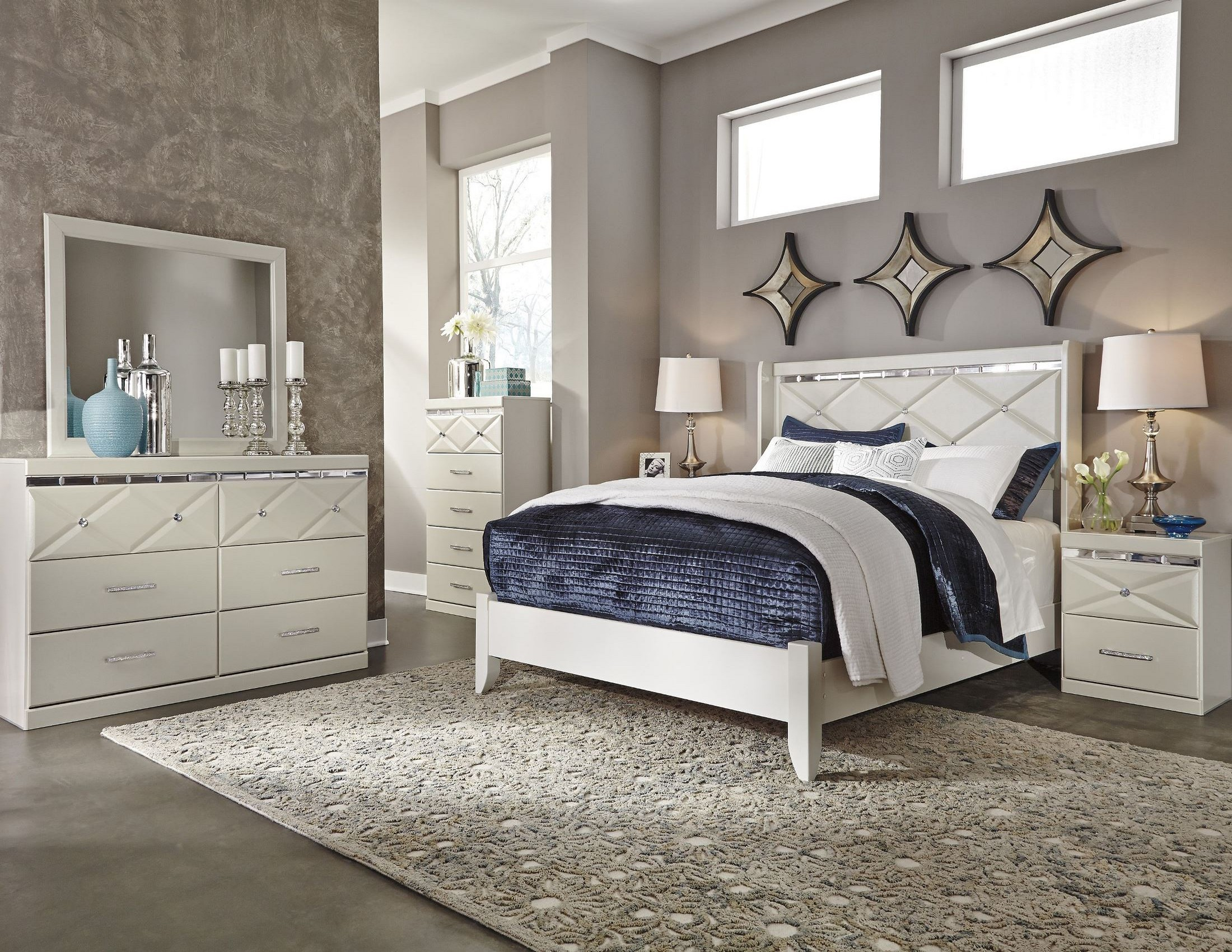 Dreamur Champagne Panel Bedroom Set From Ashley B351 57
