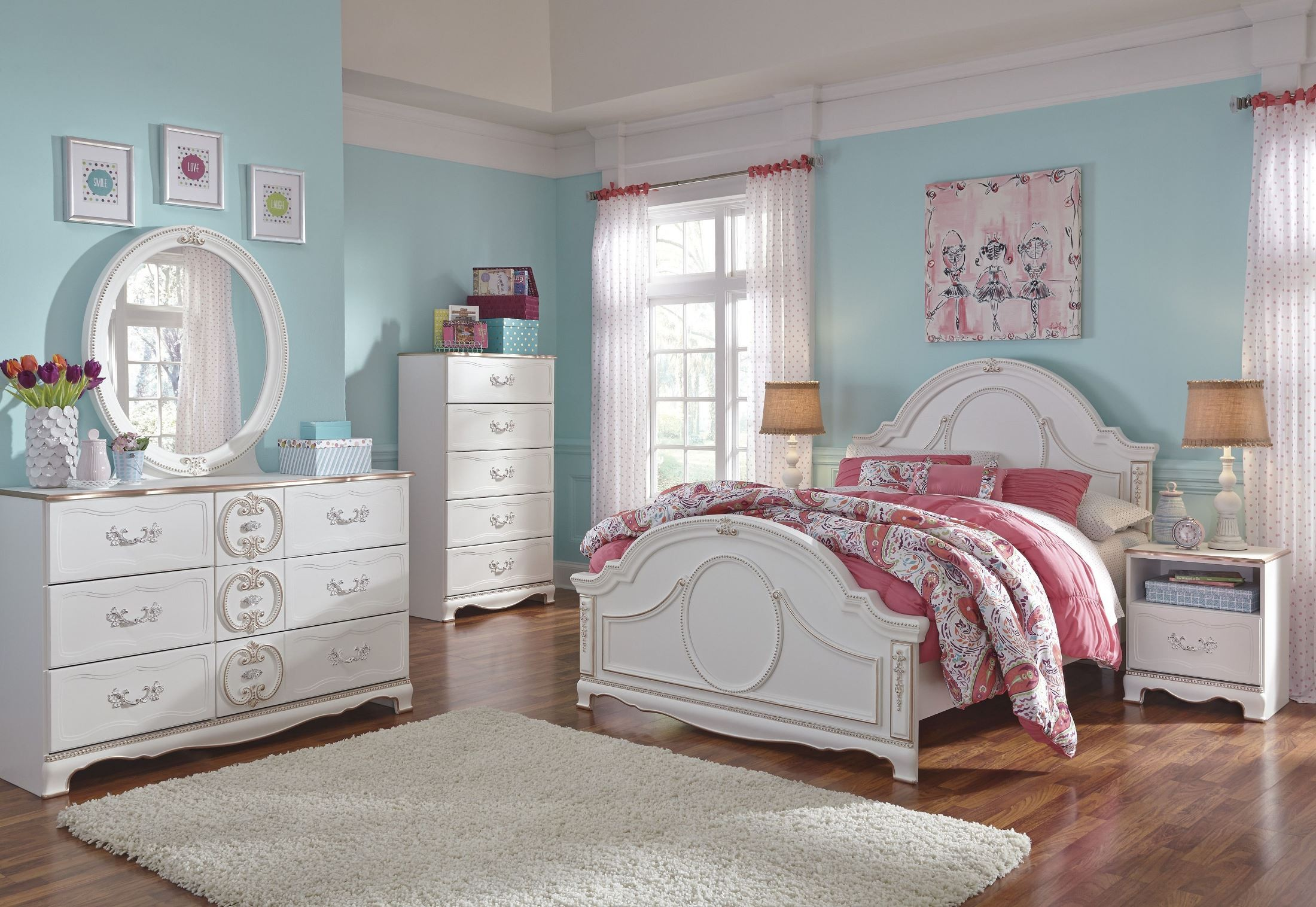 Korabella White Youth Panel Bedroom Set From Ashley B355