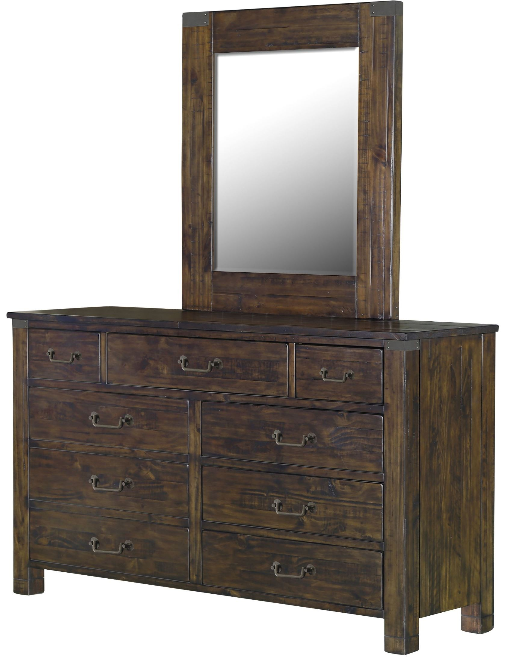 Pine Hill Rustic Pine Panel Bedroom Set from Magnussen Home B3561