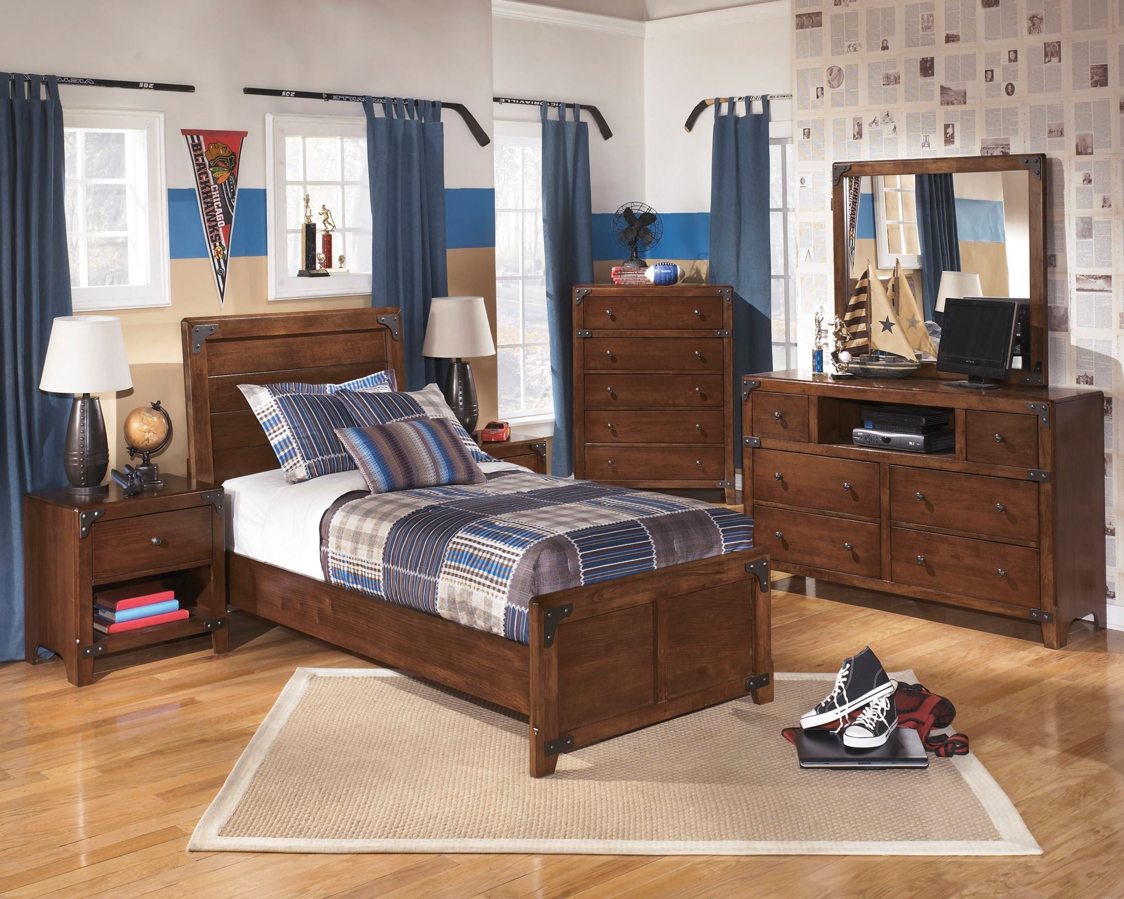 Delburne Youth Panel Bedroom Set From Ashley B362 63 83