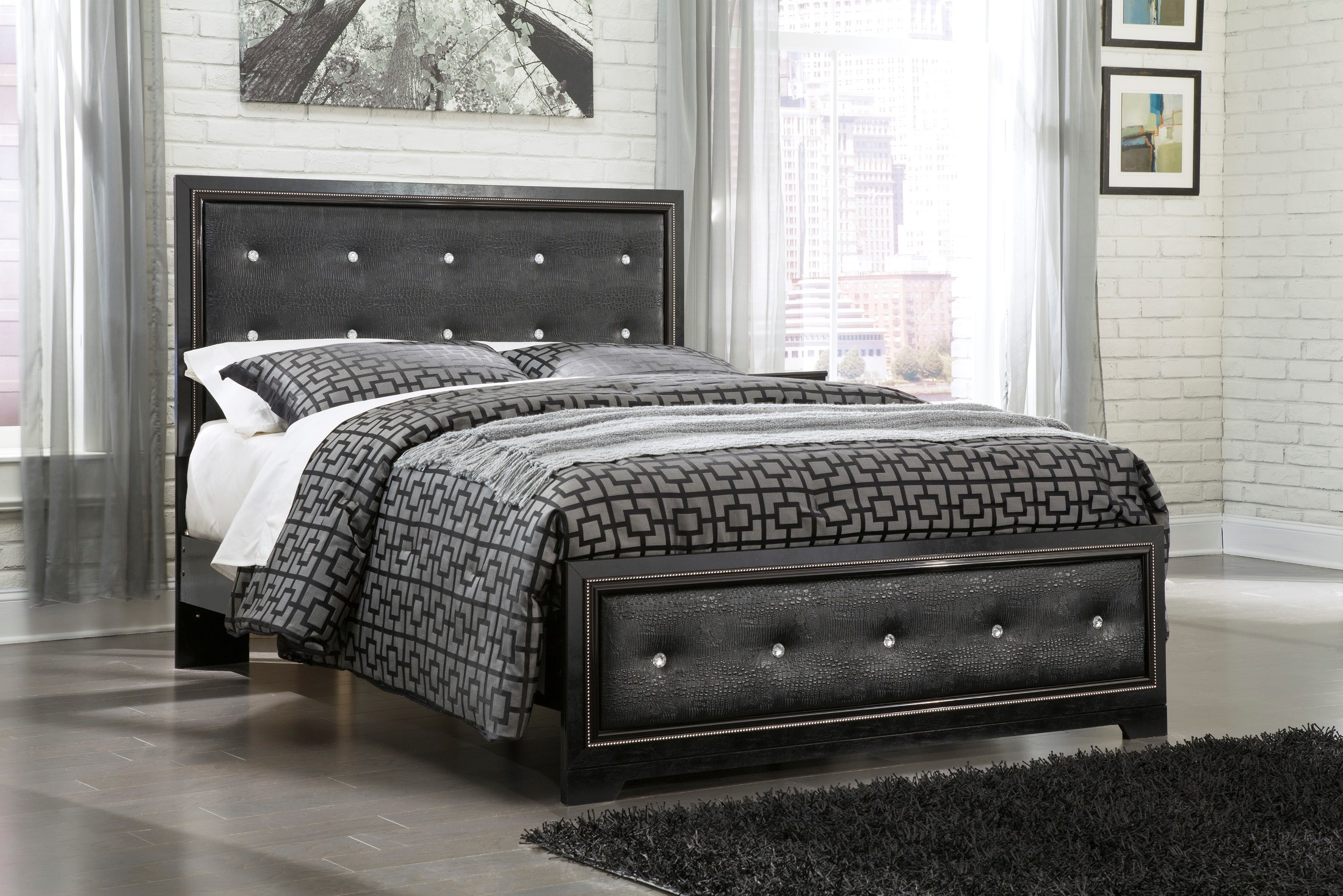 Alamadyre Queen Upholstered Panel Bed from Ashley (B364-57-54-96 ...
