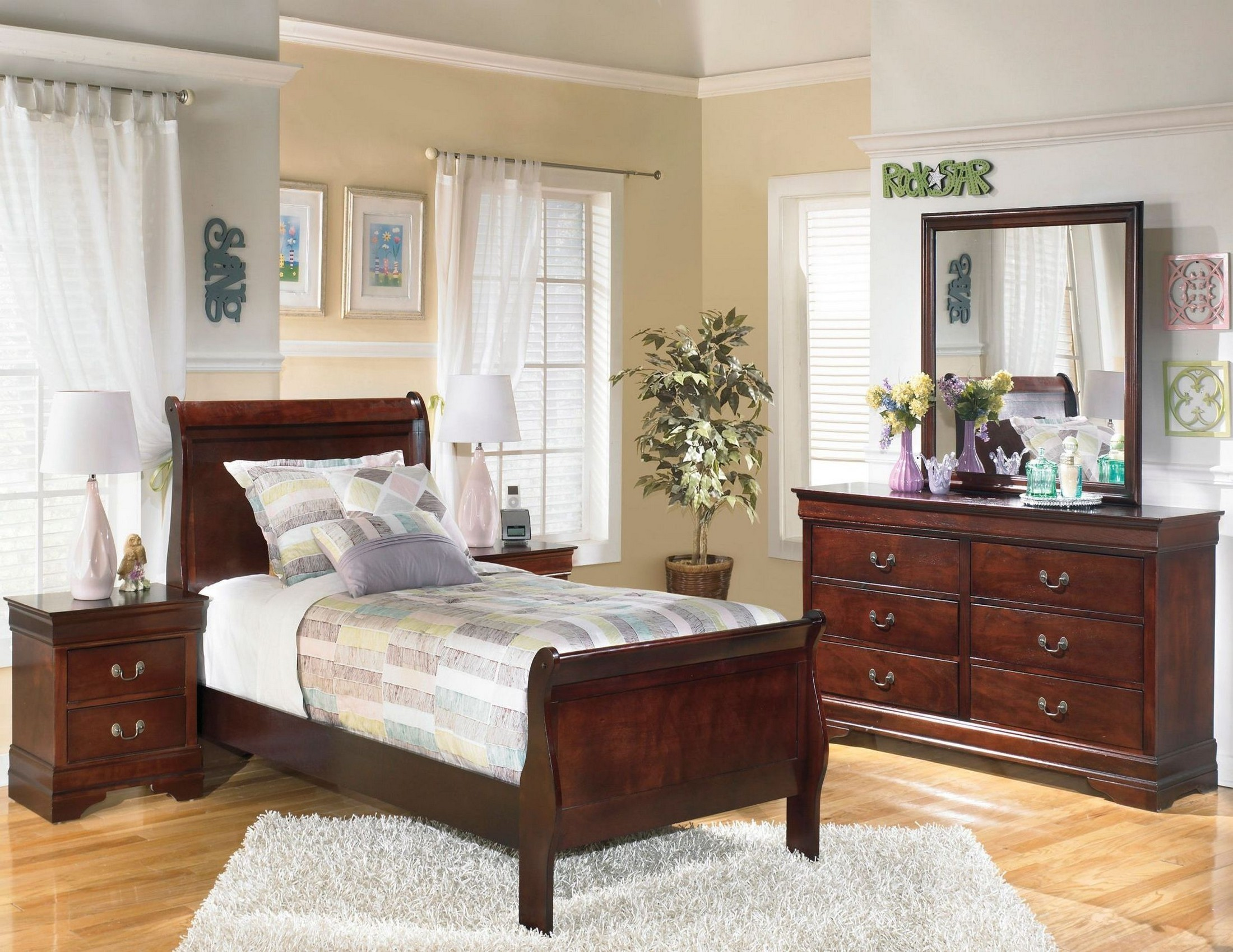 alisdair youth sleigh bedroom set from ashley (b376-53-83