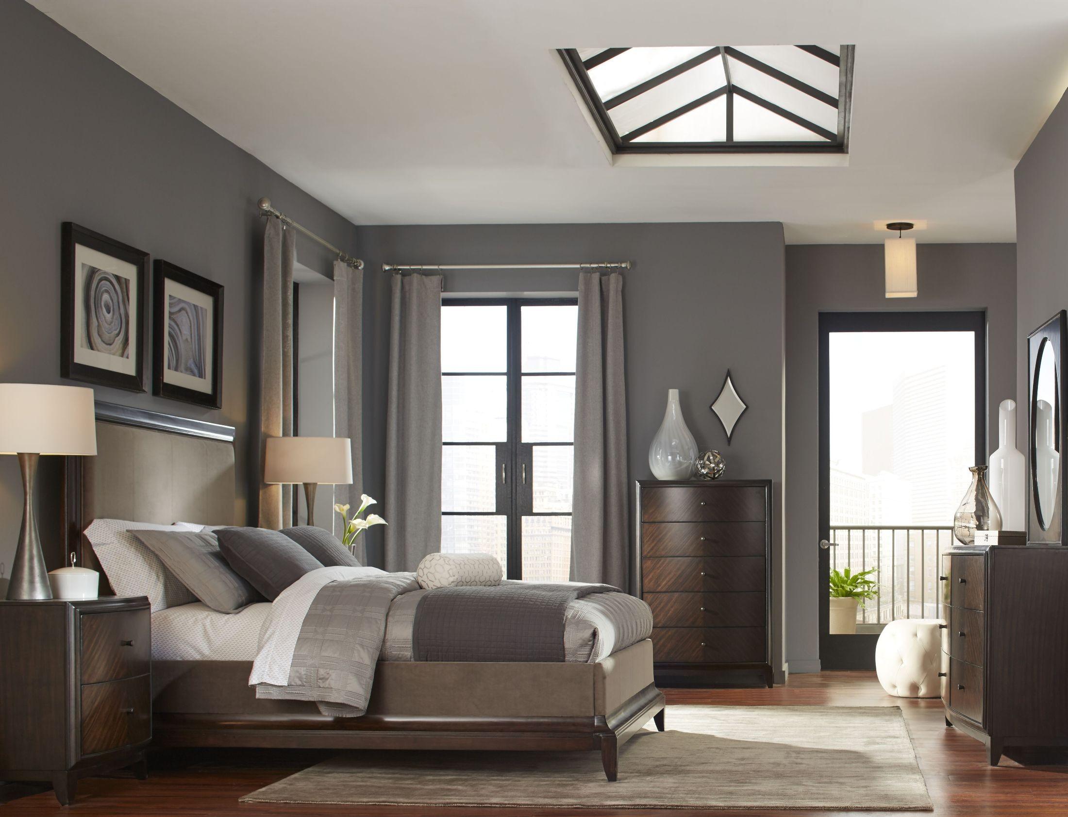 Kennett Square Java Upholstered Panel Bedroom Set from Magnussen ...