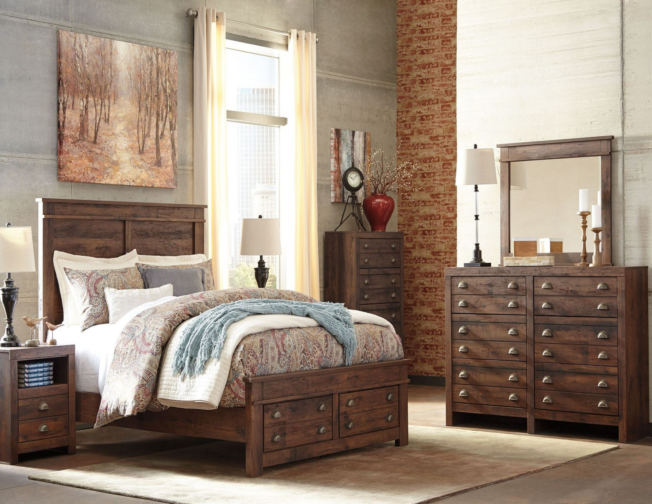 Hammerstead Brown Platform Storage Bedroom Set From Ashley